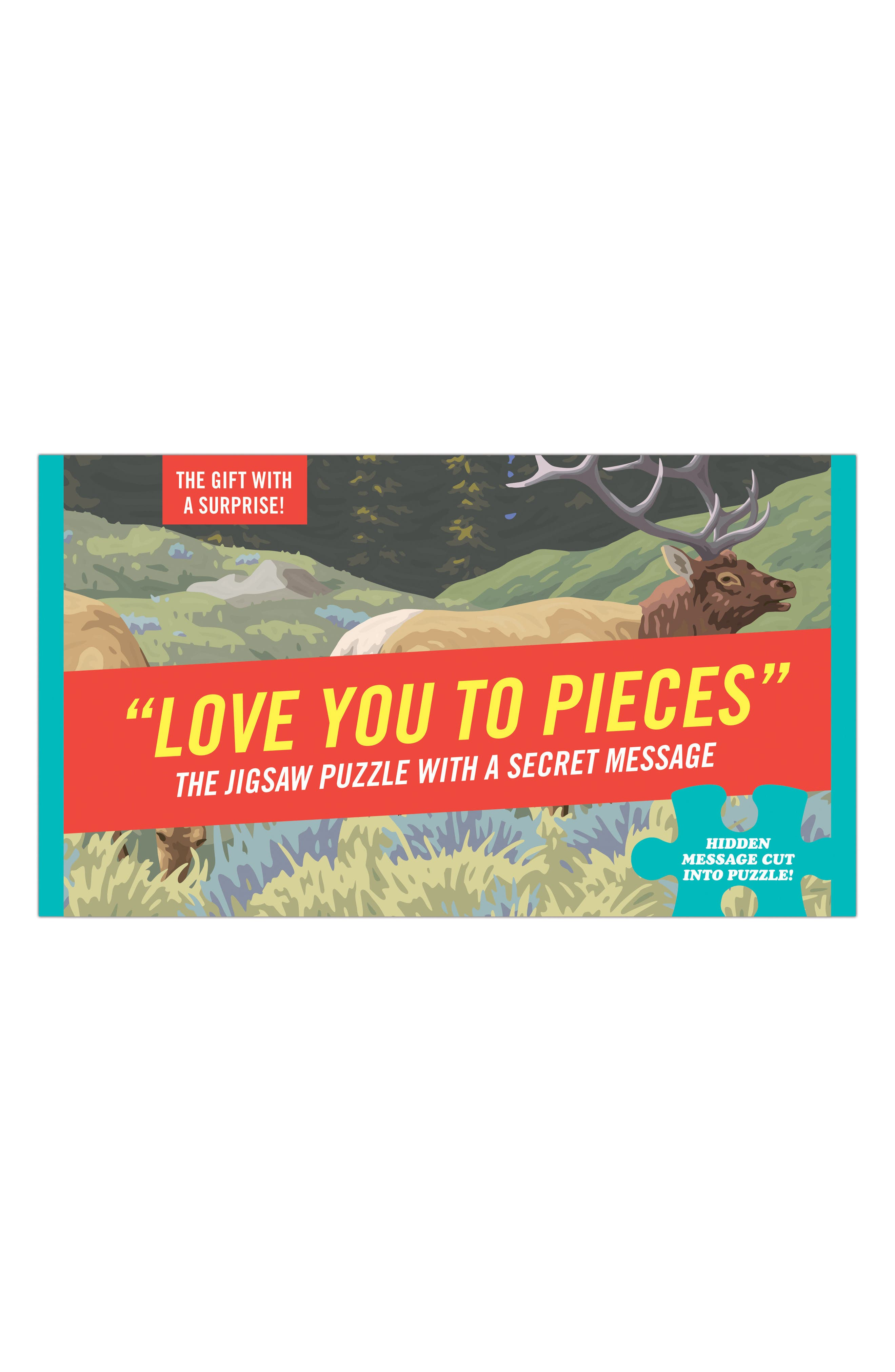 Love You to Pieces Puzzle,                         Main,                         color, Red
