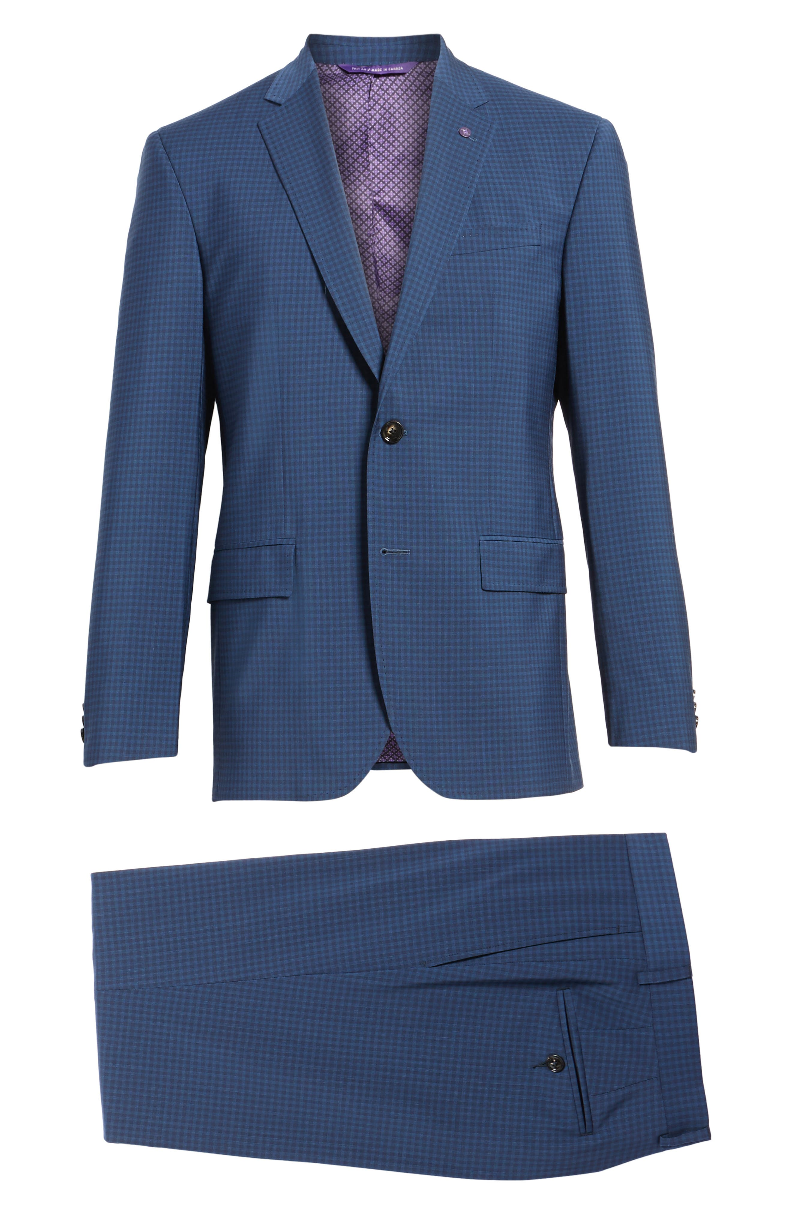 Jay Trim Fit Stretch Wool Suit,                             Alternate thumbnail 8, color,                             Blue