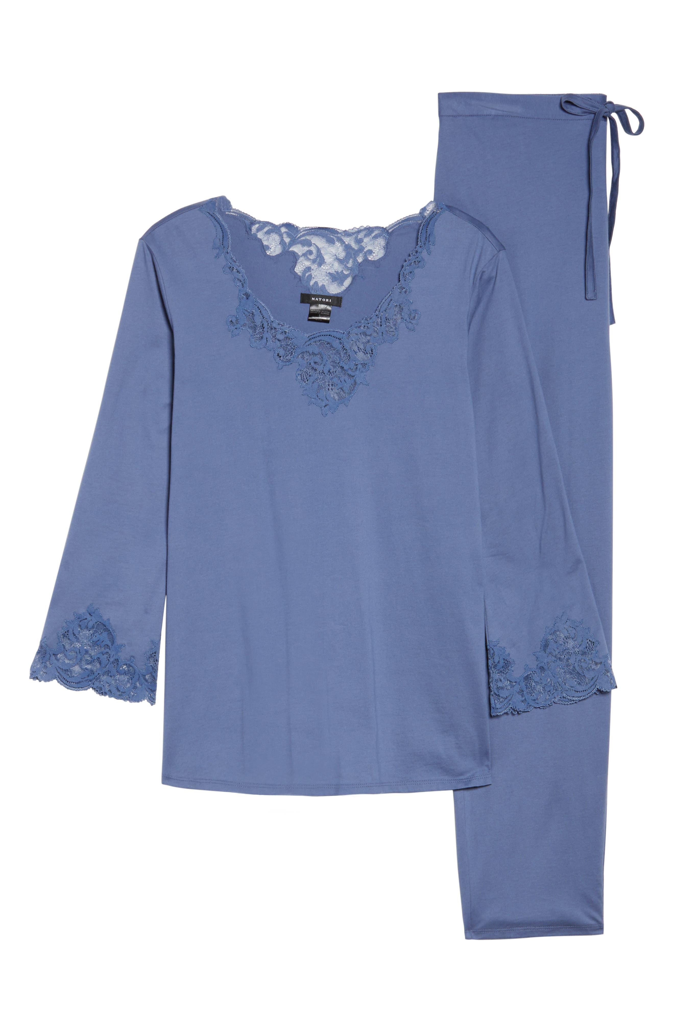 Bliss Supima<sup>®</sup> Cotton Pajamas,                             Alternate thumbnail 4, color,                             Blue Haze