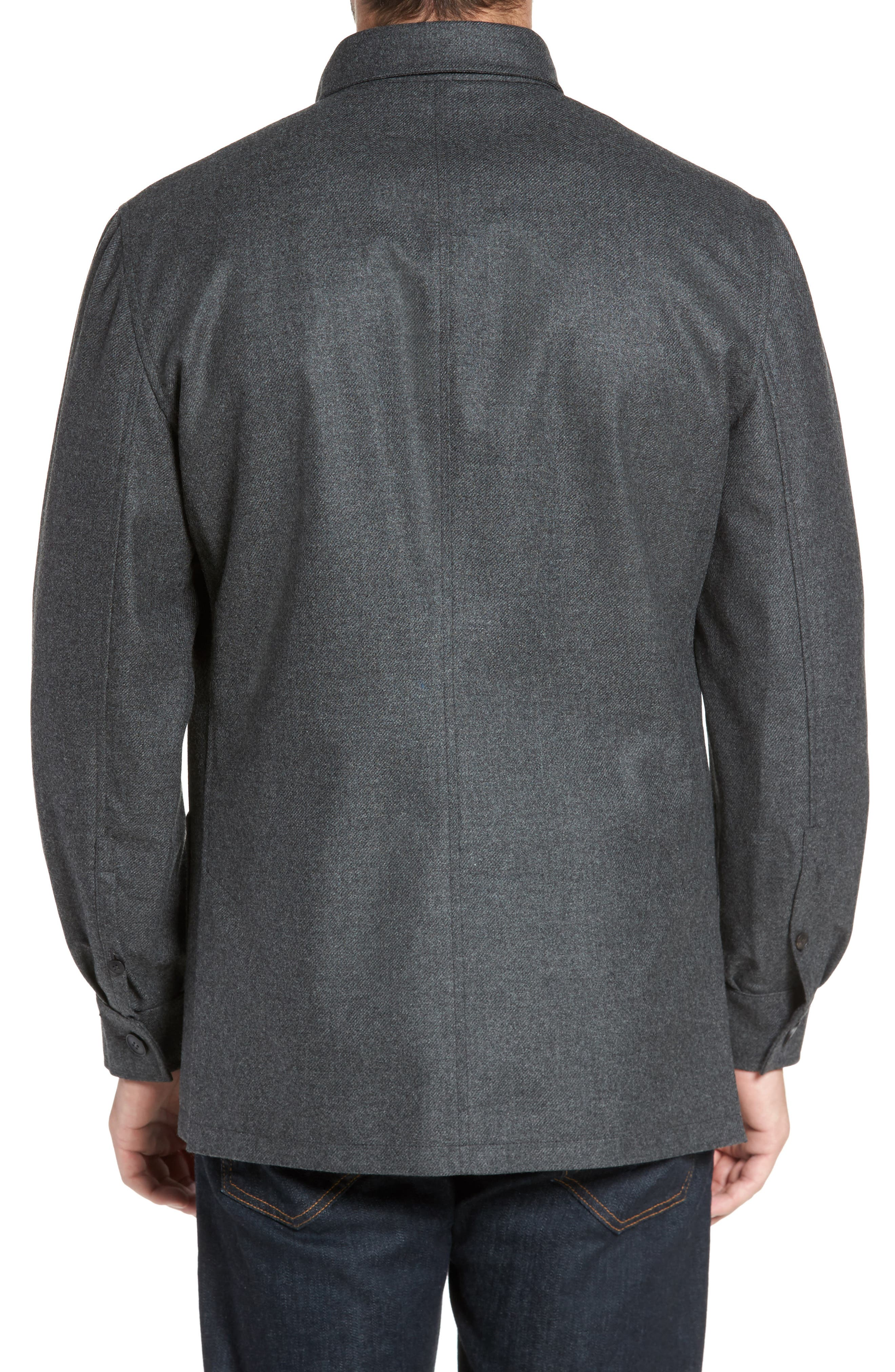 Alternate Image 2  - David Donahue Loro Piana Storm System Shirt Jacket