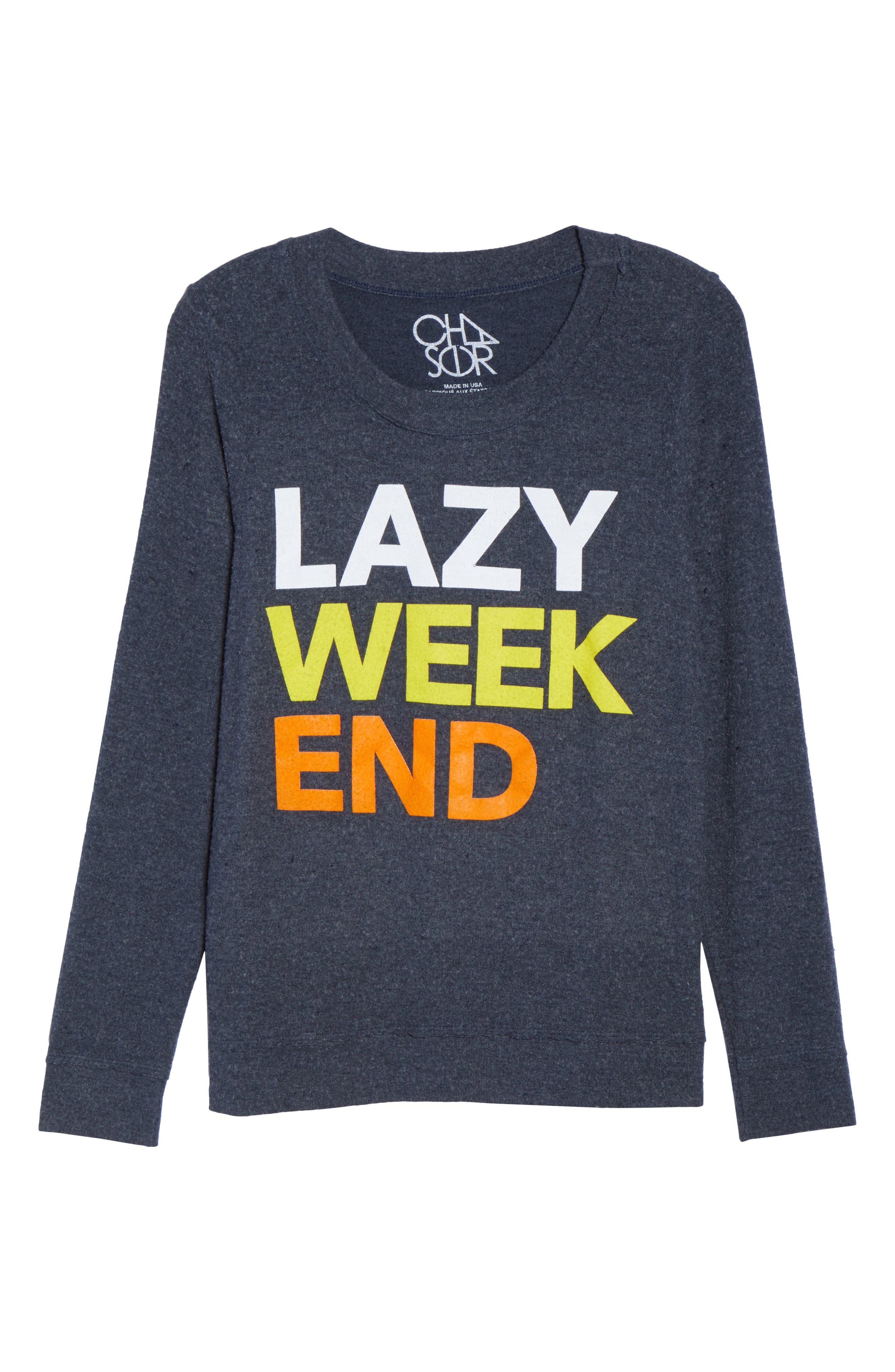 Lazy Weekend Love Knit Sweatshirt,                             Alternate thumbnail 4, color,                             Avalon