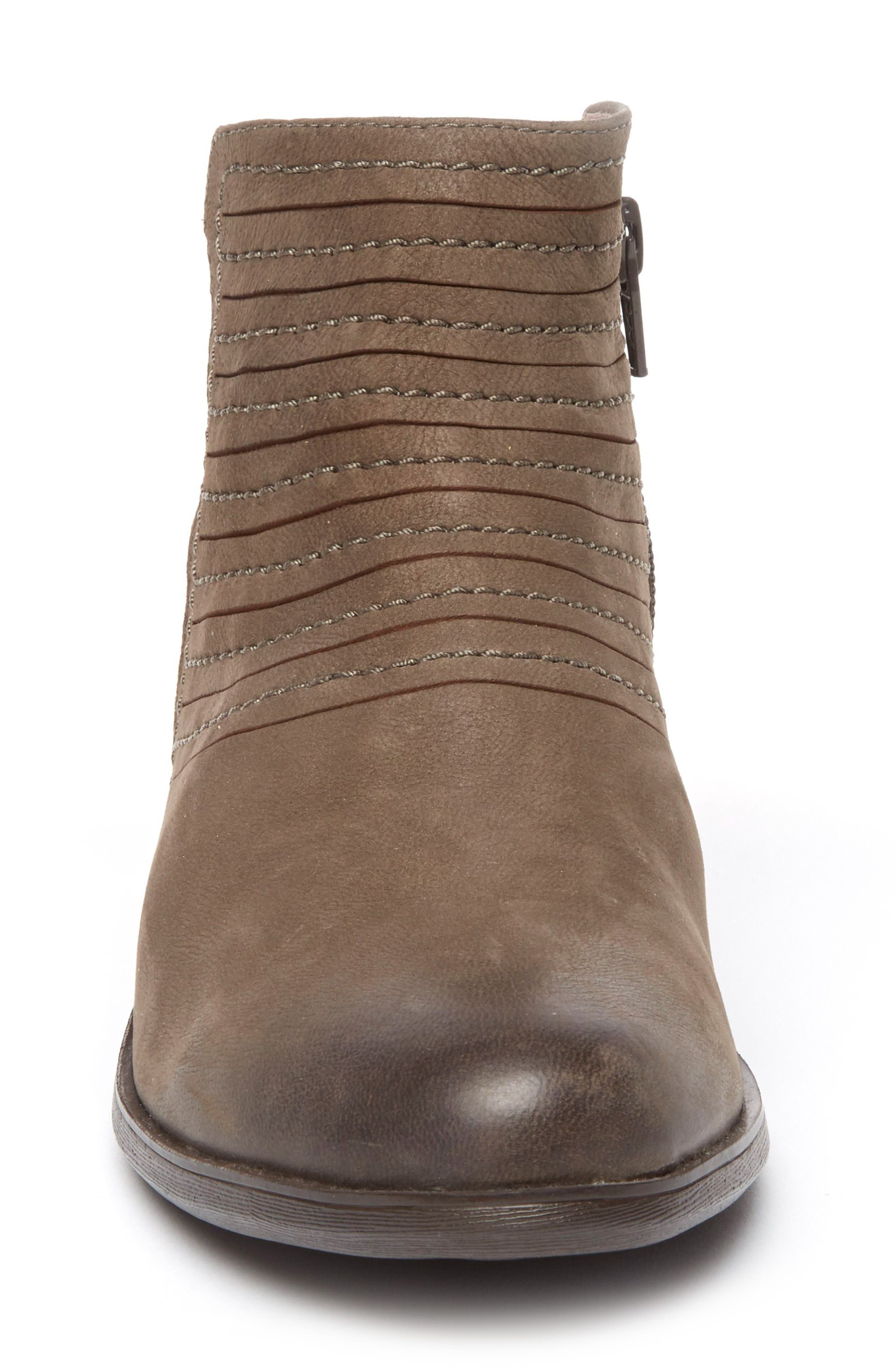 Vanna Strappy Bootie,                             Alternate thumbnail 4, color,                             Olive Grey Nubuck