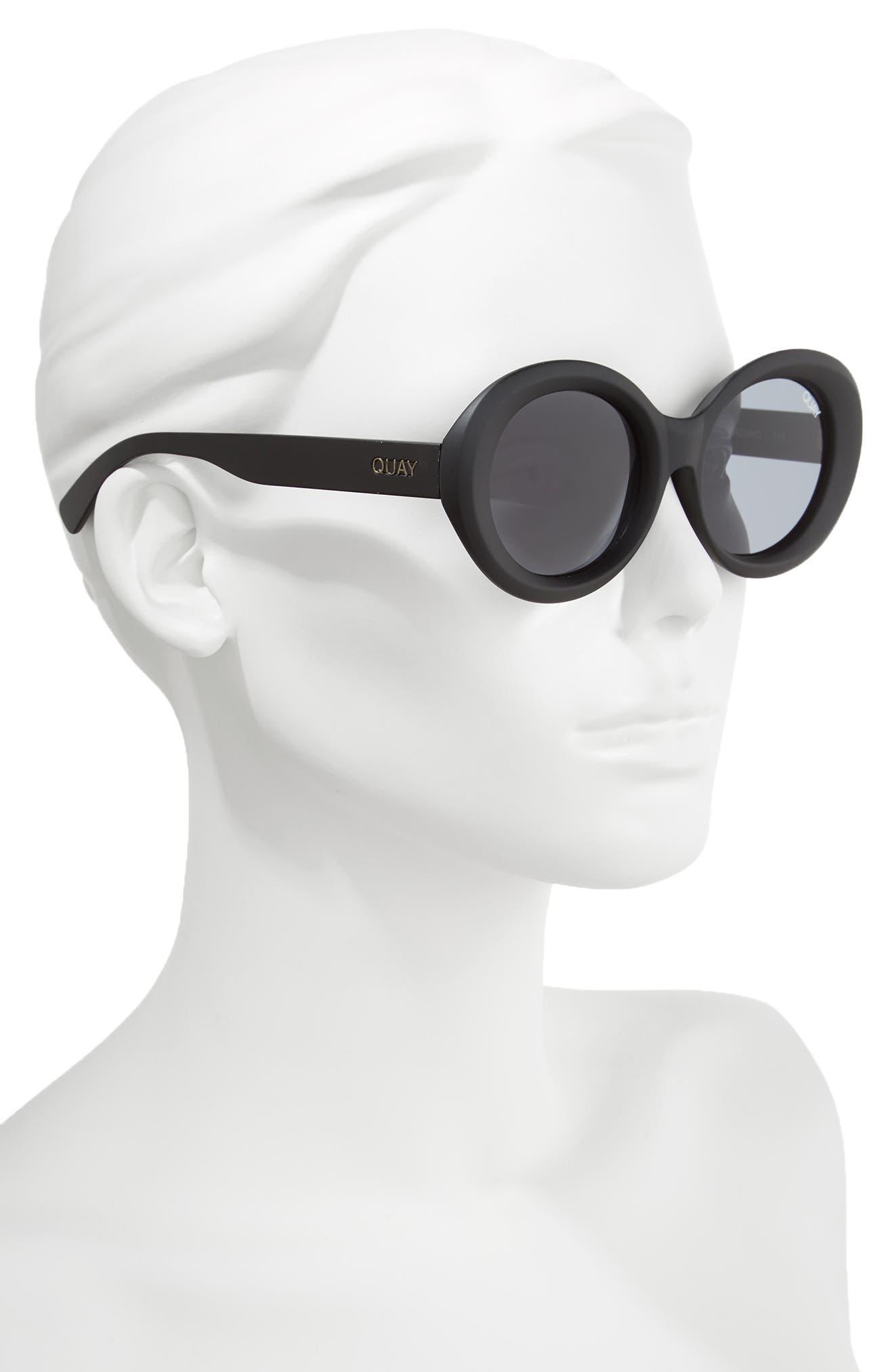 Alternate Image 2  - Quay Australia Mess Around 52mm Oval Sunglasses