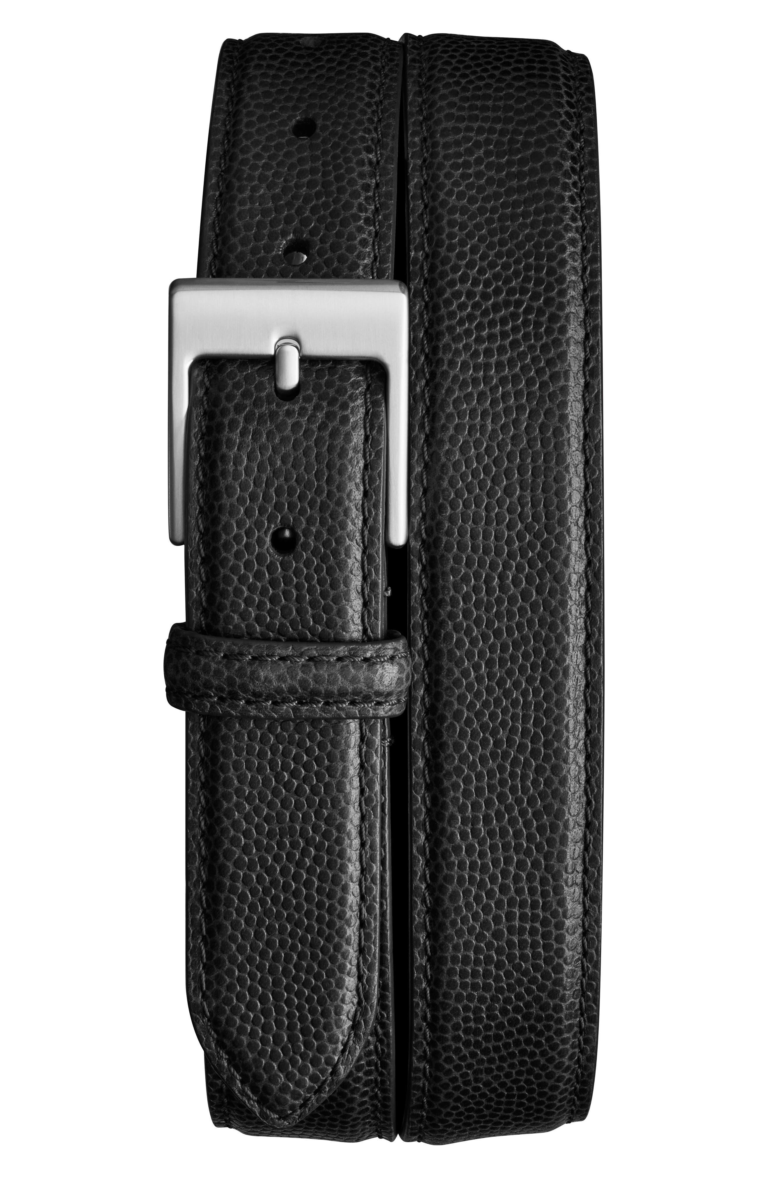 Latigo Leather Belt,                         Main,                         color, Black