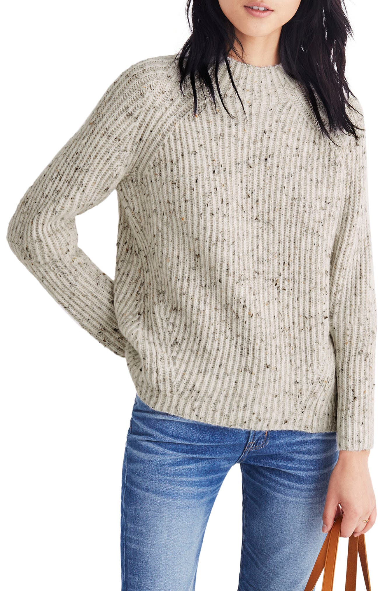 Donegal Northfield Mockneck Sweater,                         Main,                         color, Donegal Snow