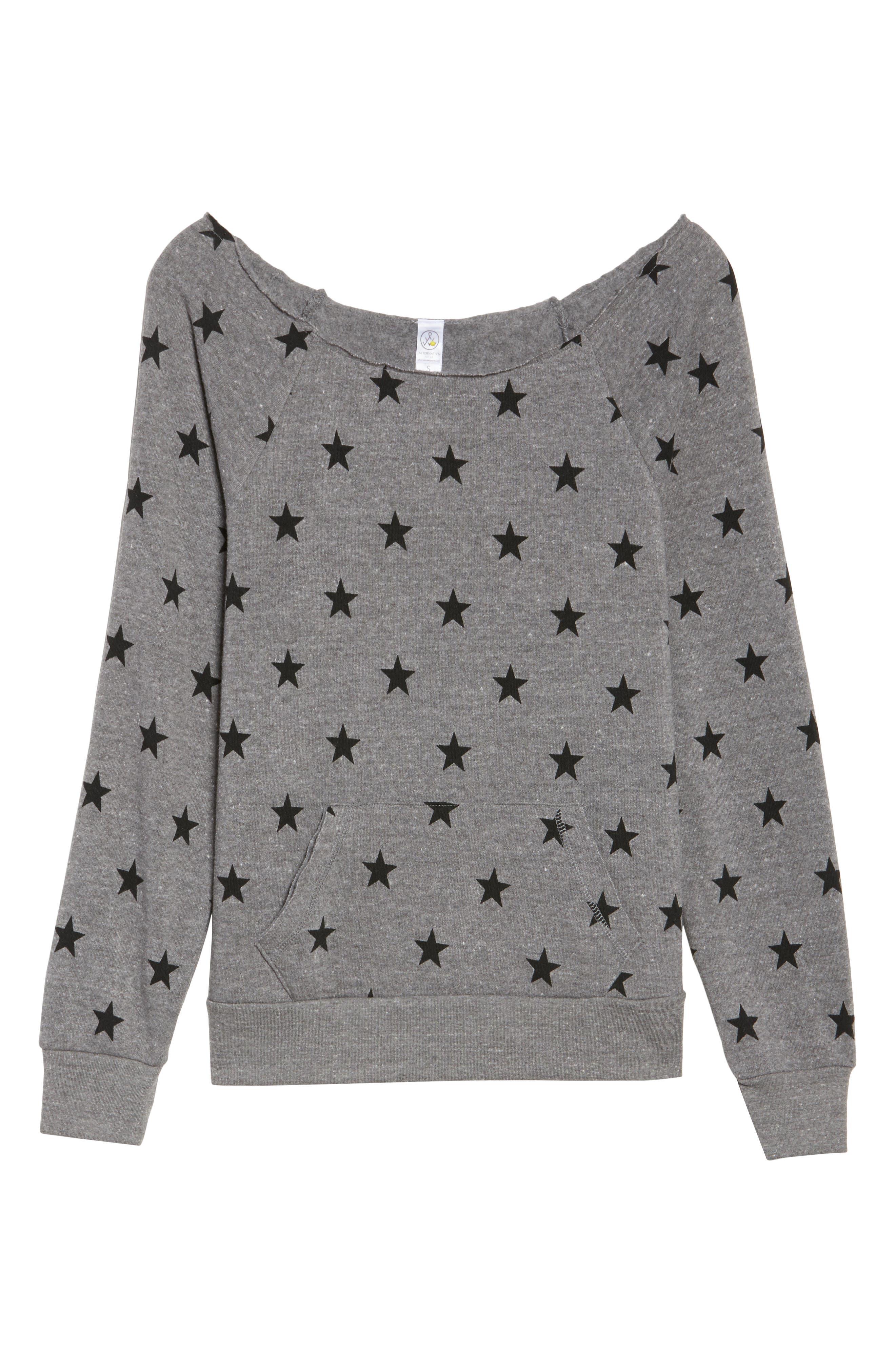 Maniac Camo Fleece Sweatshirt,                             Alternate thumbnail 6, color,                             Eco Grey Stars