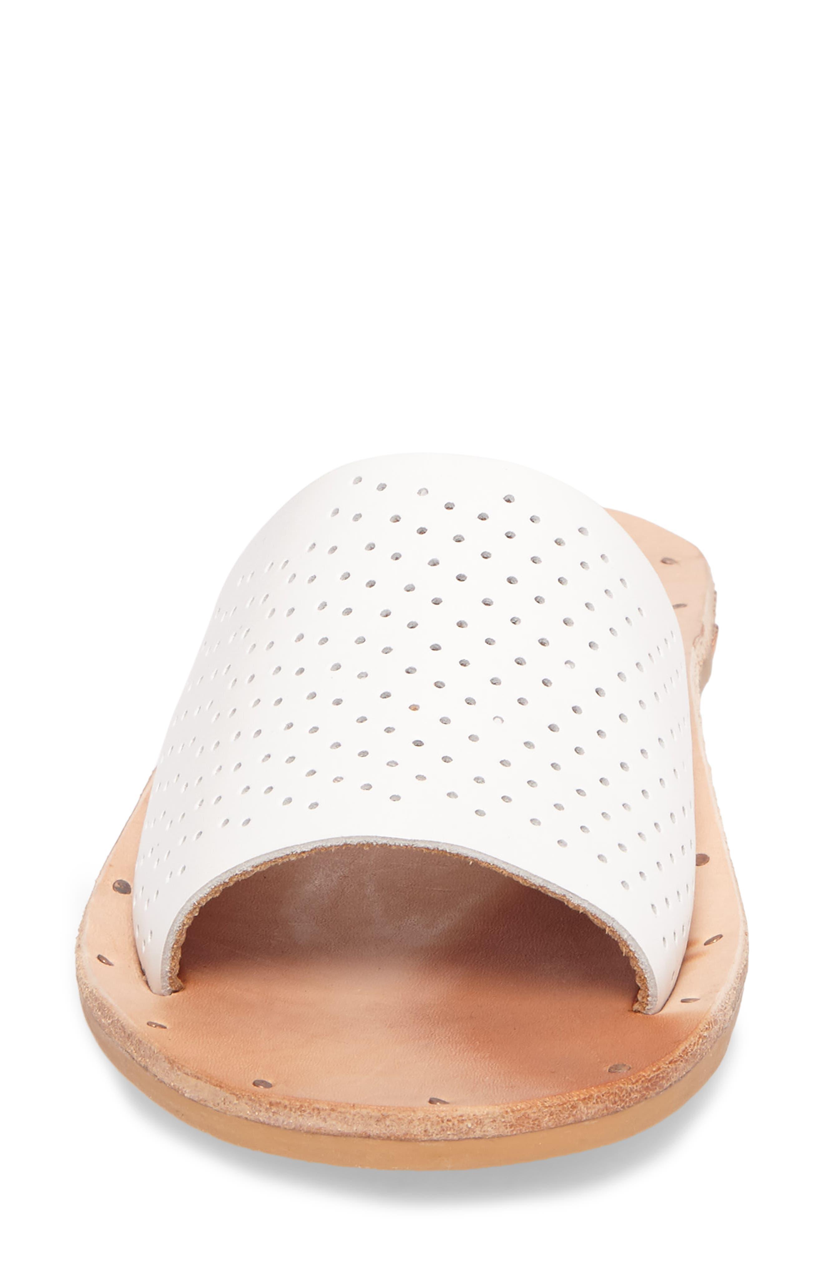Mockingbird Sandal,                             Alternate thumbnail 4, color,                             White Perf/ Tan