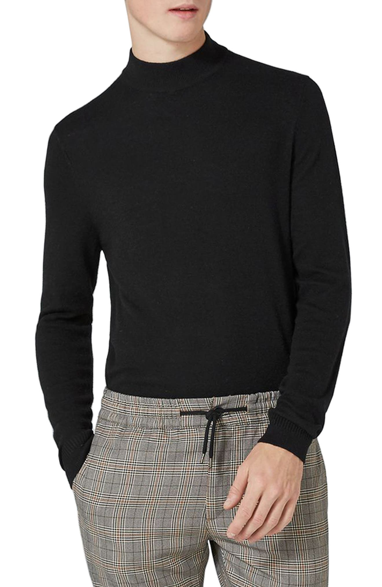 Topman Mock Neck Sweater