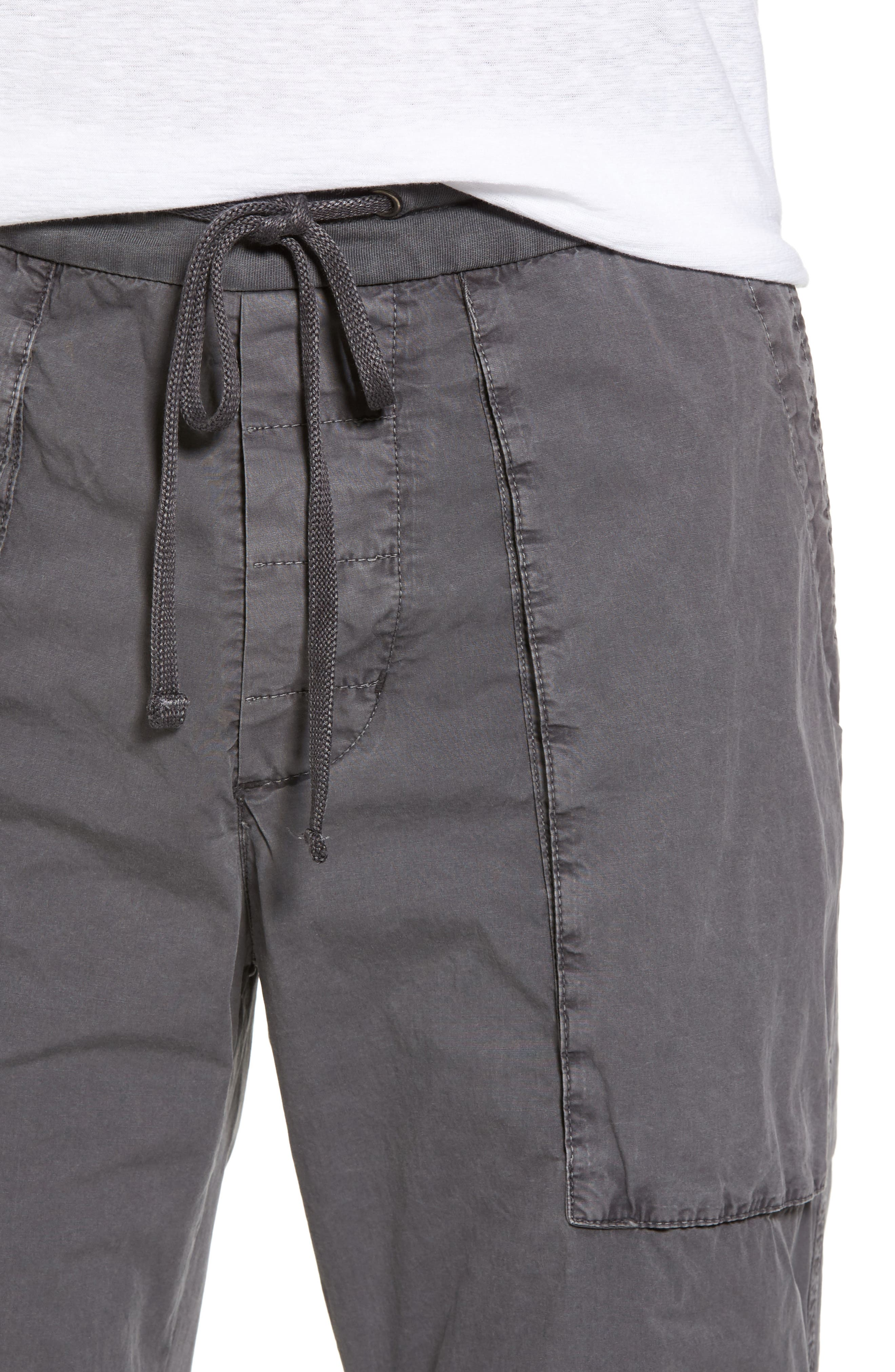 Stretch Poplin Utility Pants,                             Alternate thumbnail 4, color,                             Pipe Pigment