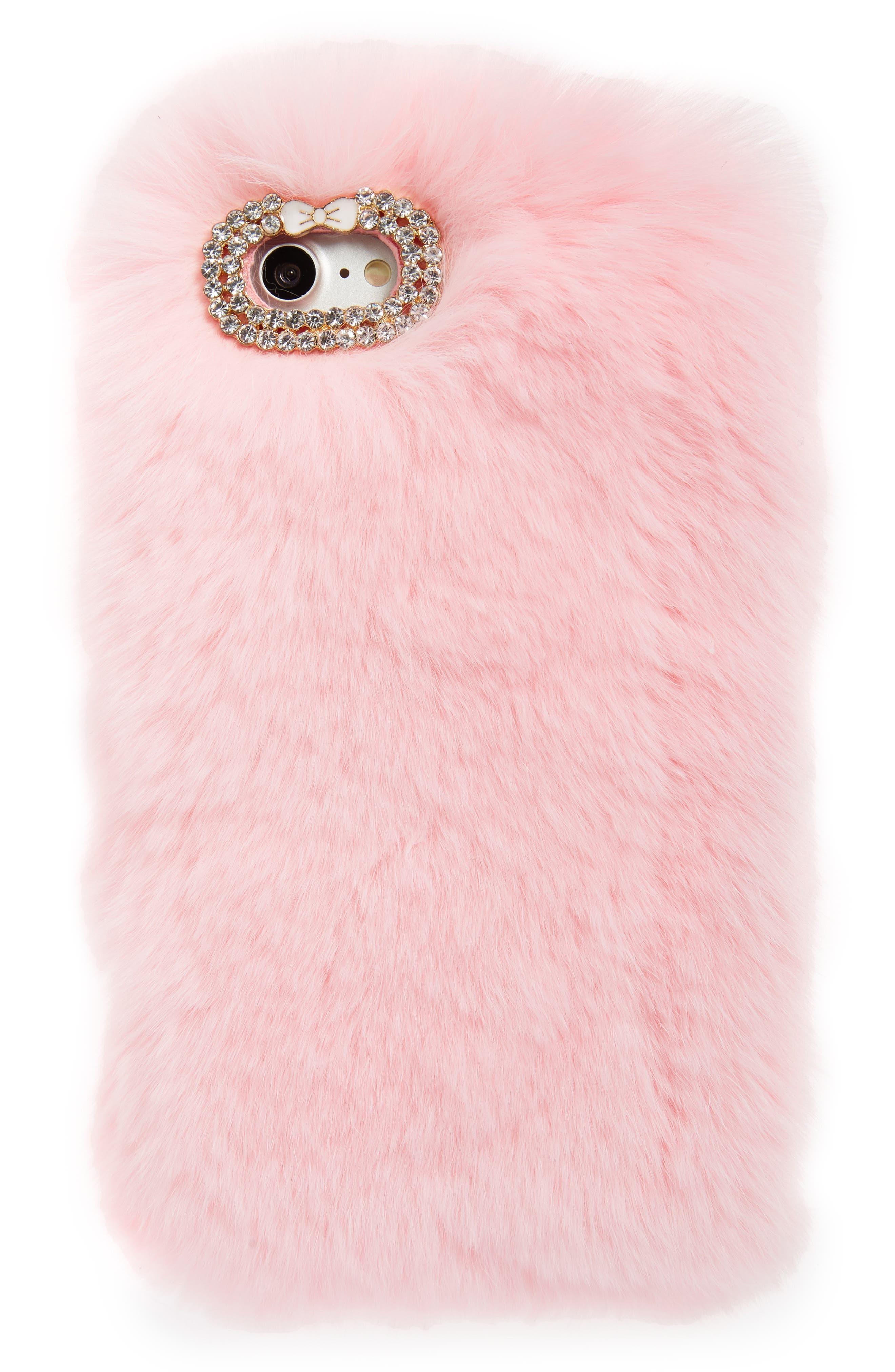 BP. Plush Faux Fur iPhone 6/6s/7 Case