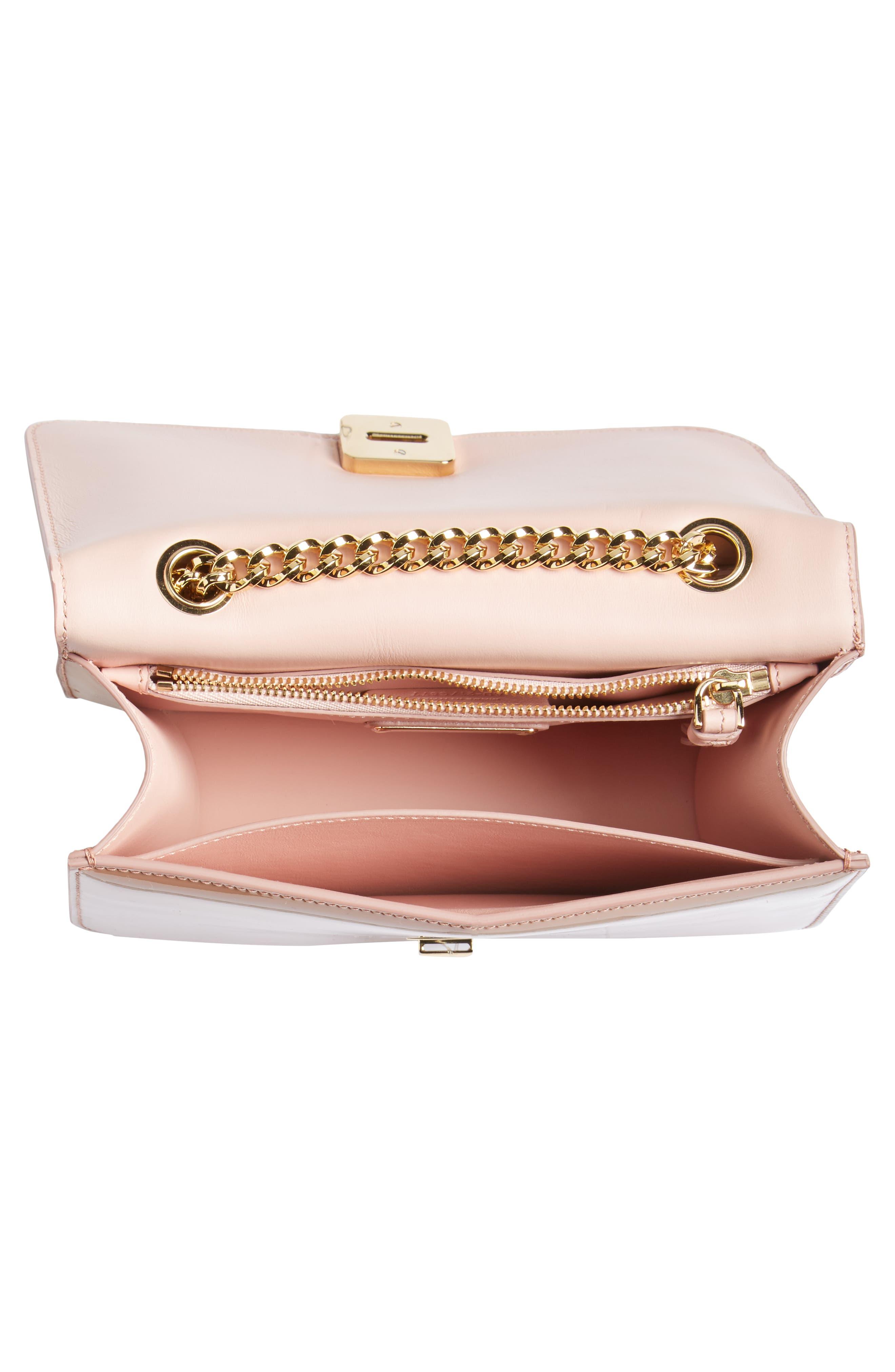 Vara Patent Leather Shoulder Bag,                             Alternate thumbnail 4, color,                             New Blush/ Bonbon