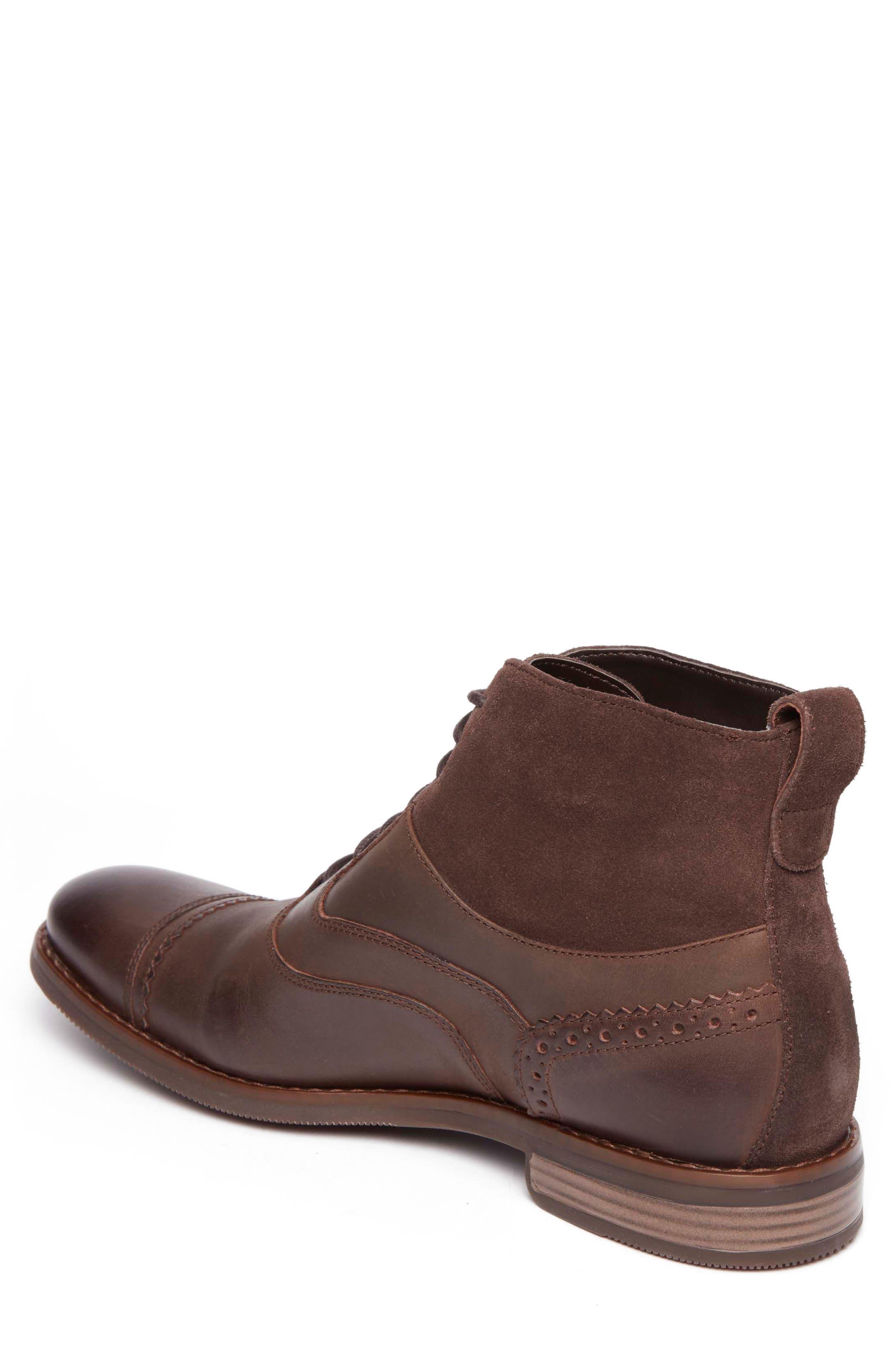 Wynstin Cap Toe Boot,                             Alternate thumbnail 2, color,                             Dark Chocolate Leather