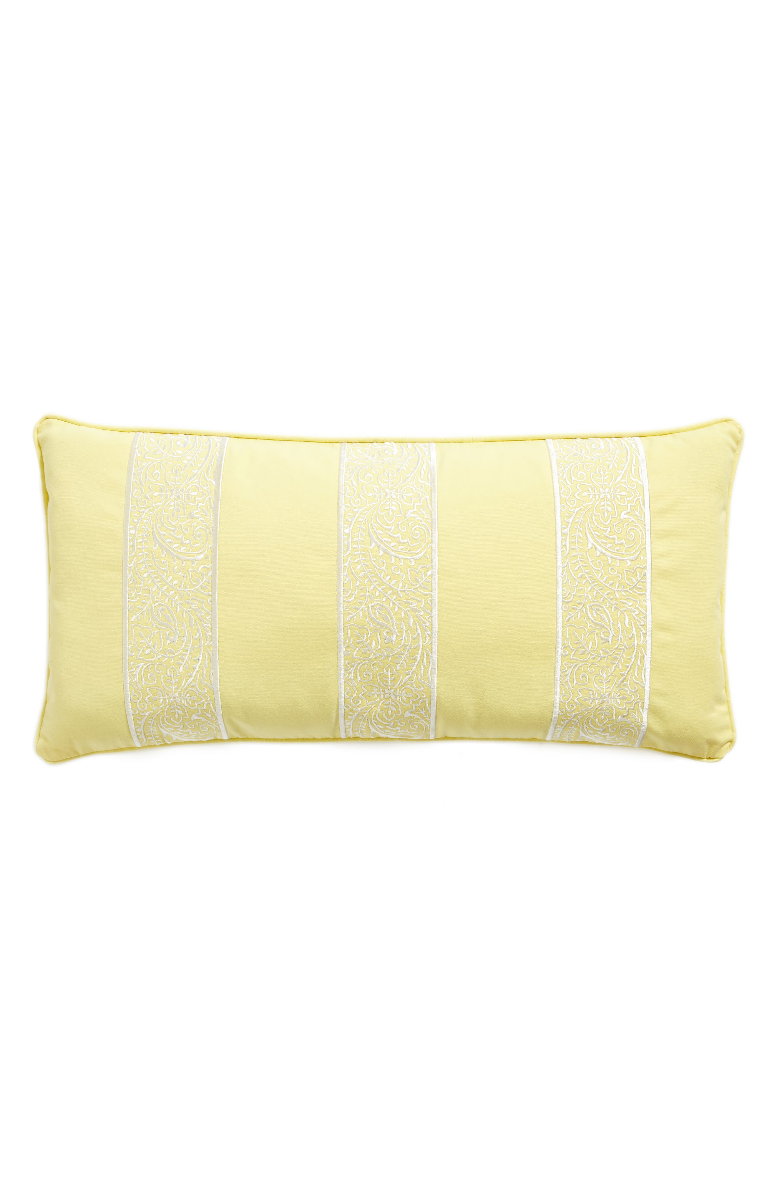 Remie Embroidered Pillow,                         Main,                         color, Yellow
