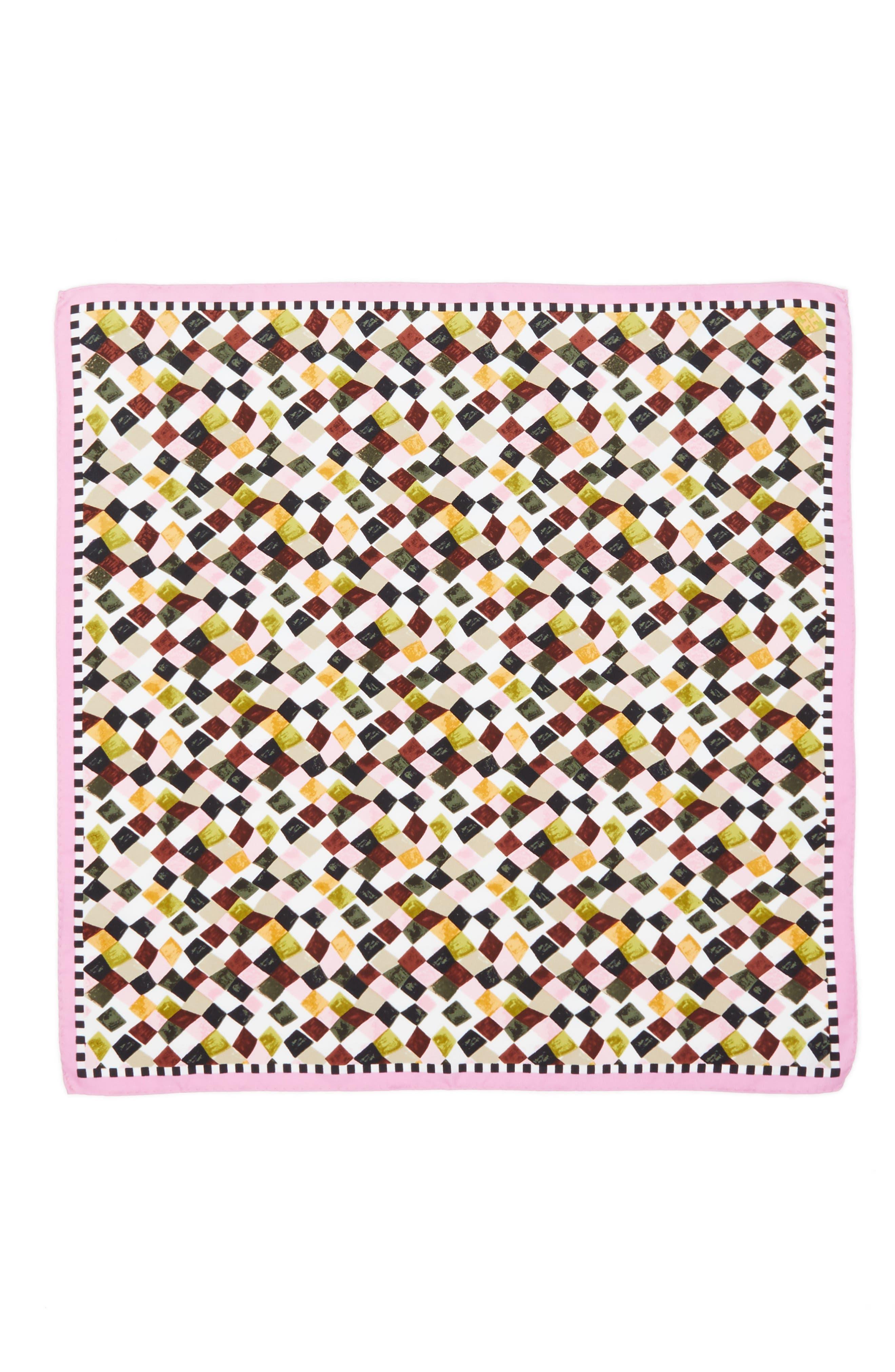 Alternate Image 2  - Tory Burch Prism Print Silk Neckerchief