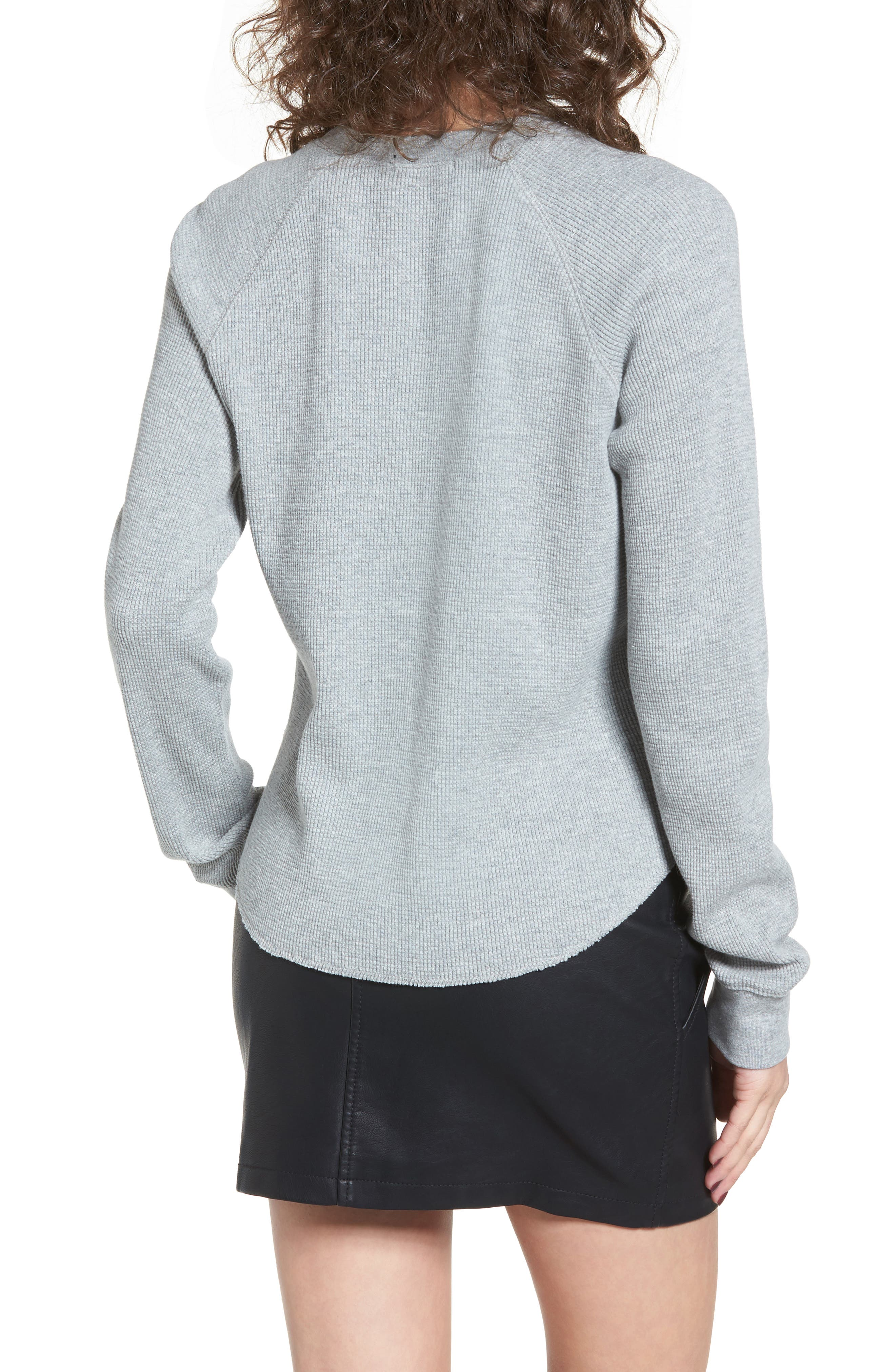 Dune Thermal Top,                             Alternate thumbnail 2, color,                             Heather Grey