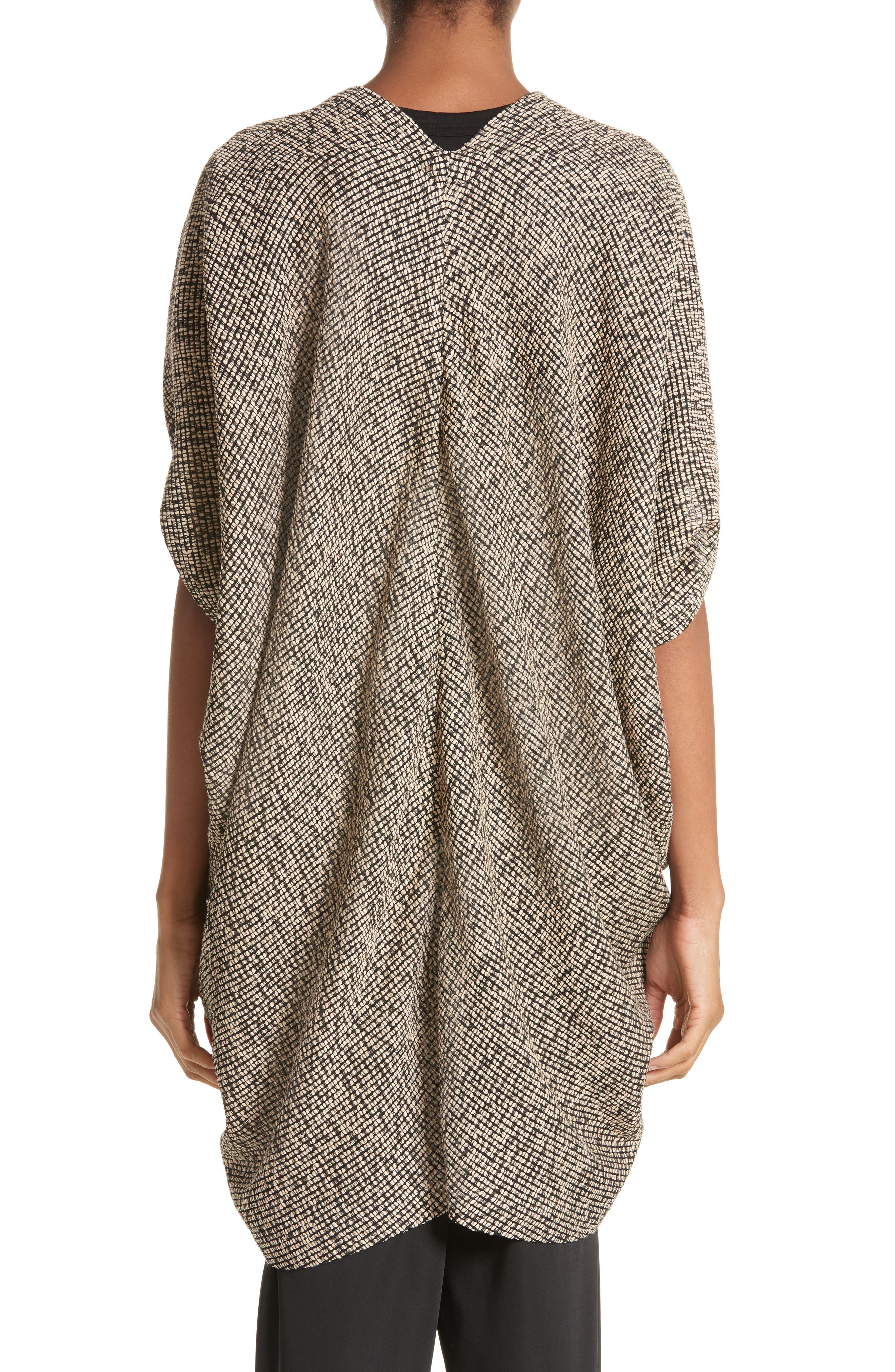Open Weave Sweater,                             Alternate thumbnail 2, color,                             Black/Greige