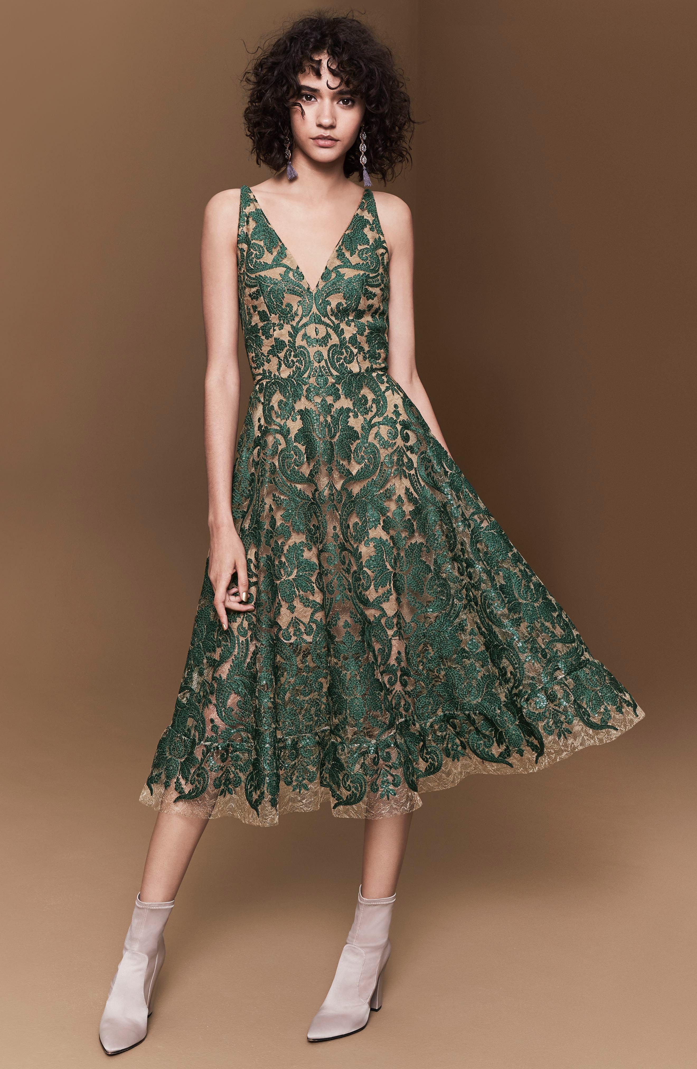Alternate Image 2  - Dress the Population Blair Embellished Fit & Flare Dress