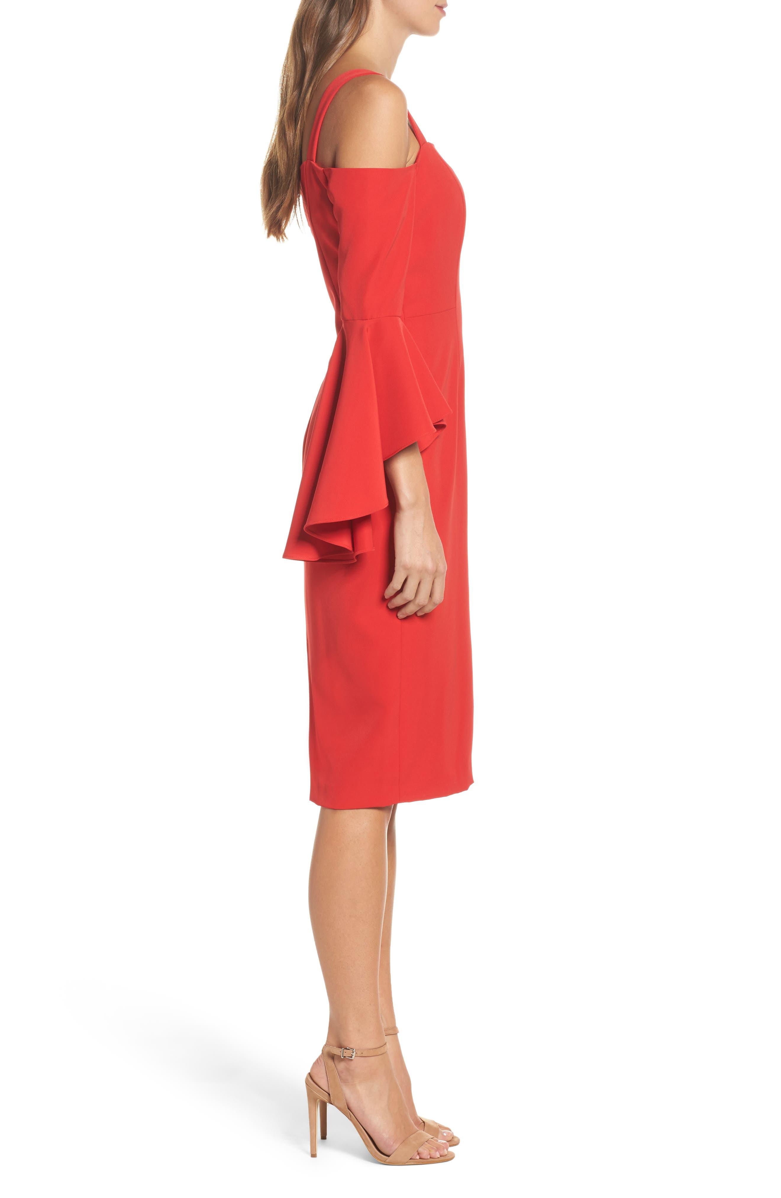 Alternate Image 3  - Maggy London Cold Shoulder Crepe Sheath Dress