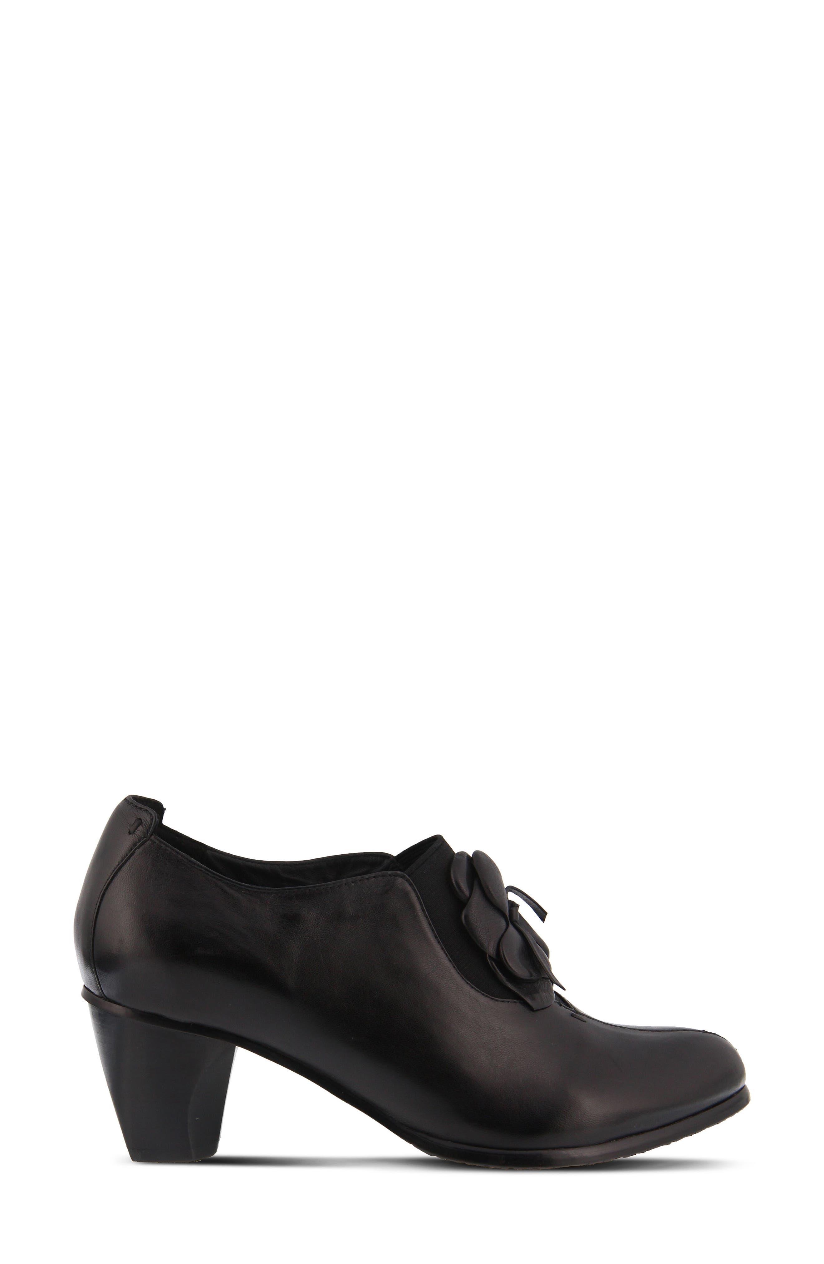 Evelina Pump,                             Alternate thumbnail 3, color,                             Black Leather