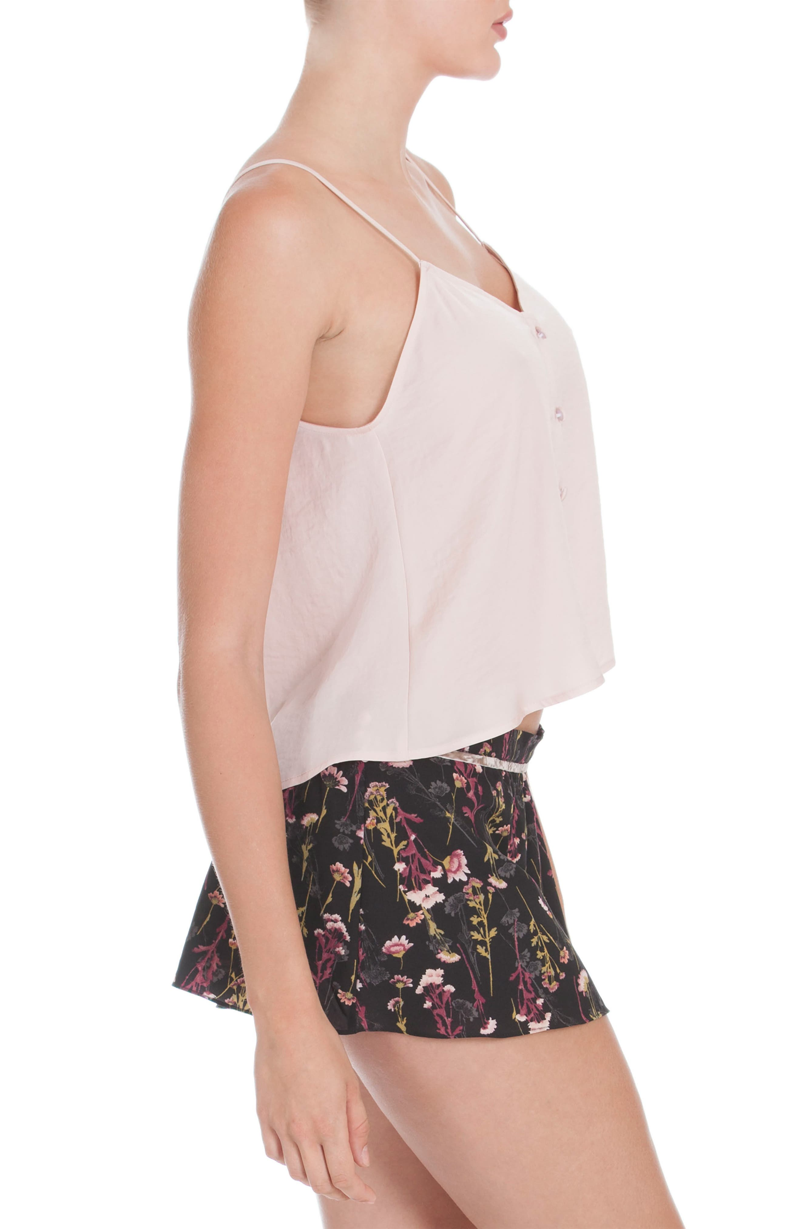 Crop Camisole,                             Alternate thumbnail 3, color,                             Dusty Rose