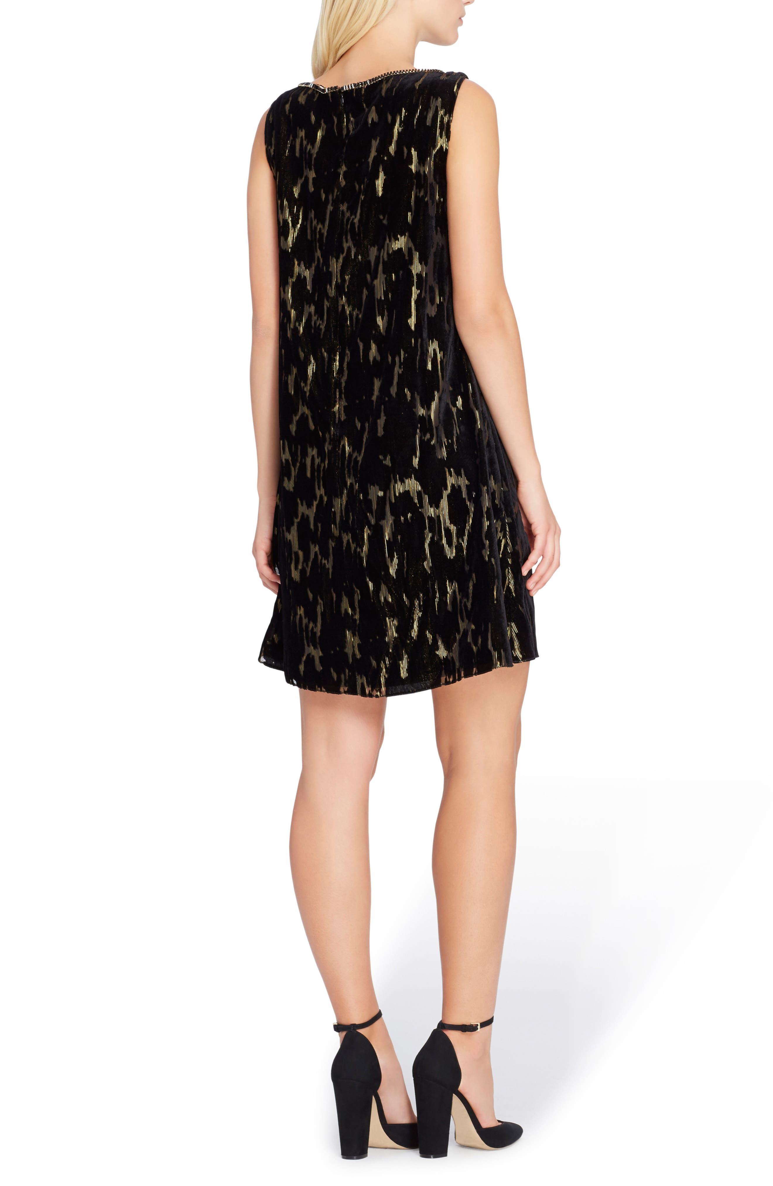 Alternate Image 2  - Tahari Burnout Velvet Dress