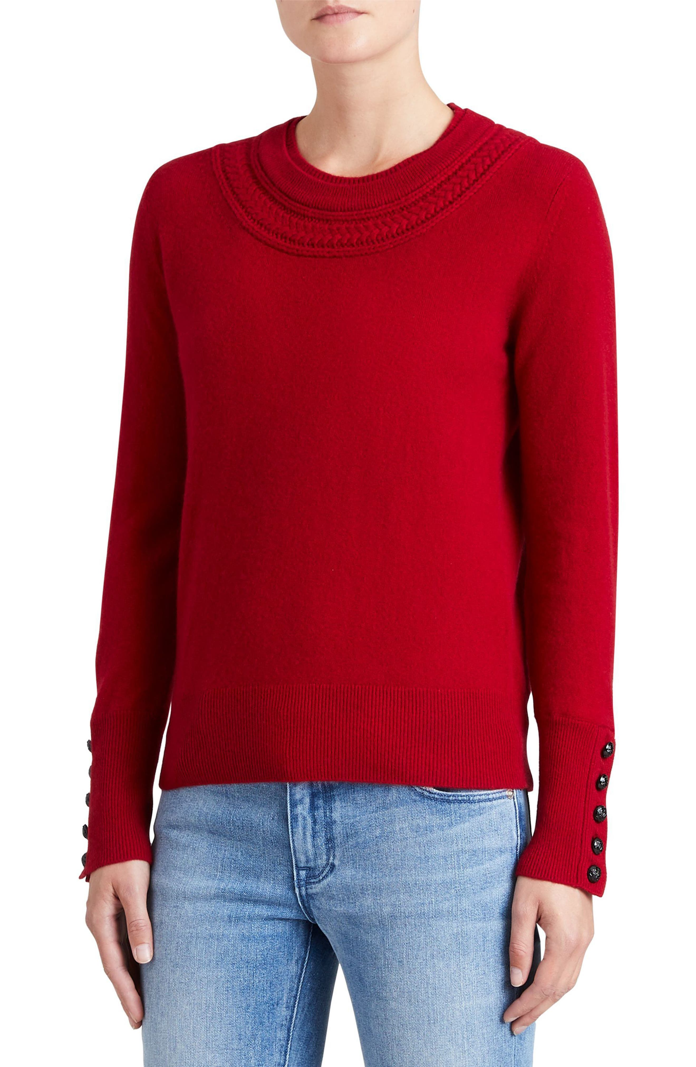Main Image - Burberry Carapelle Cashmere Sweater