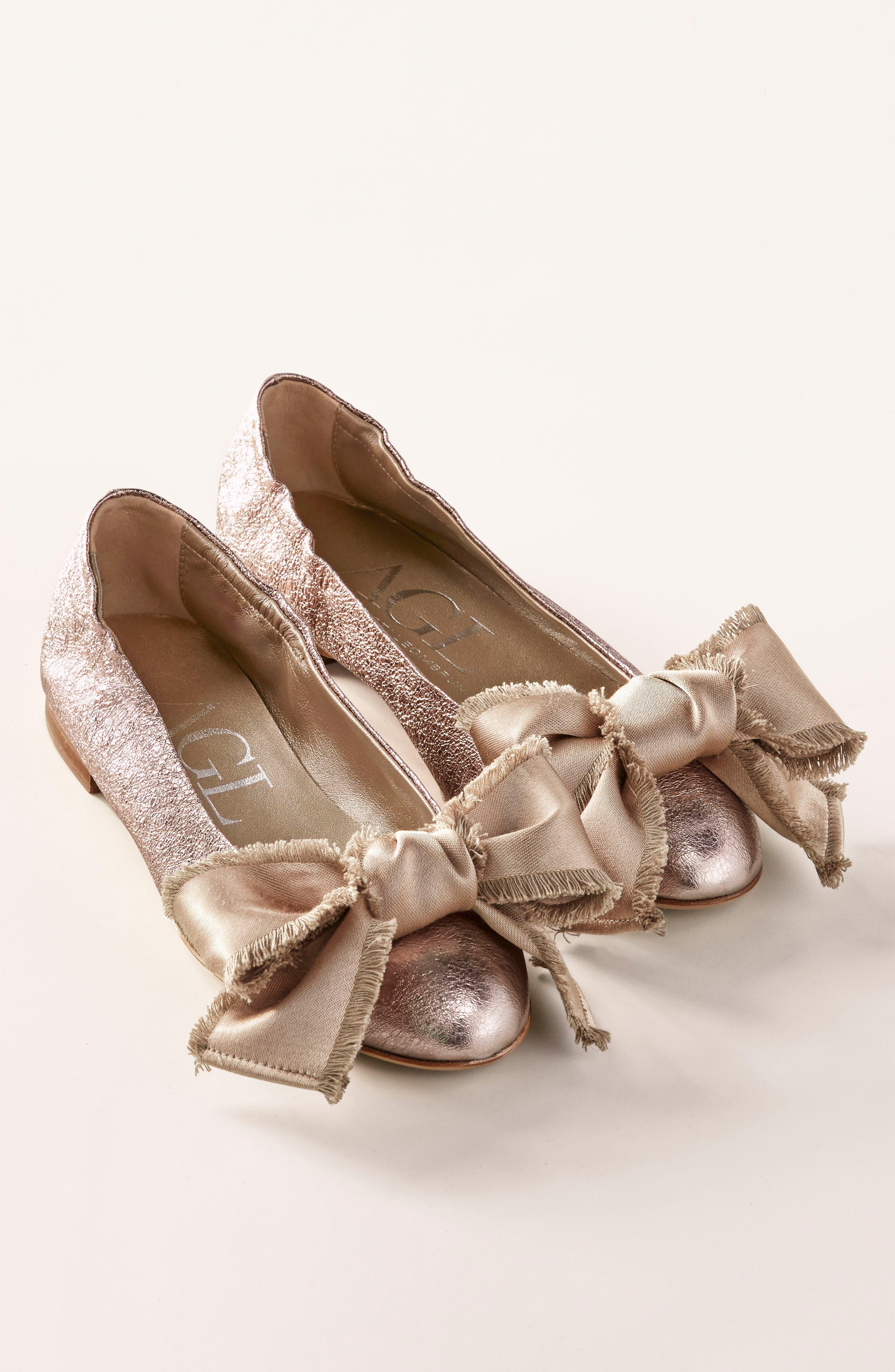 Satin Bow Ballet Flat,                             Alternate thumbnail 7, color,