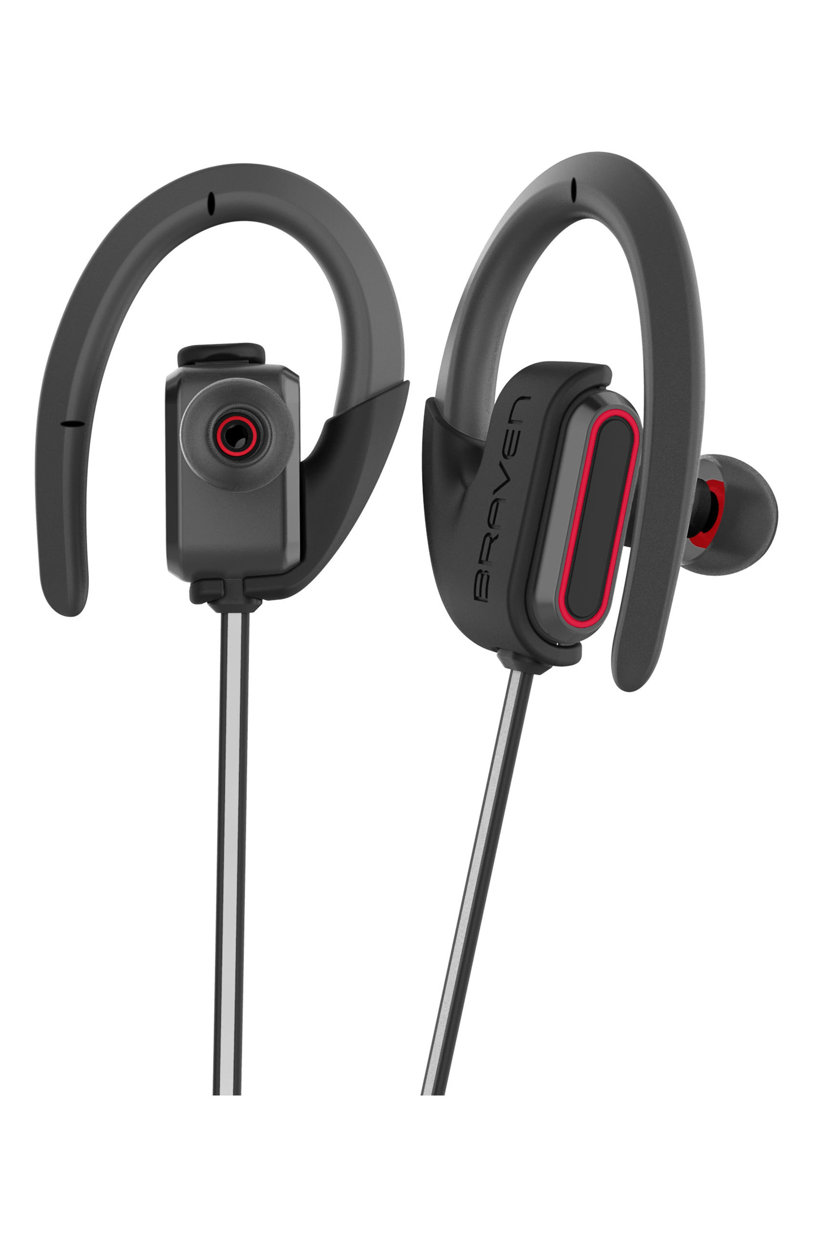 Flye Sport Reflect Bluetooth In-Ear Headphones & Power Bank,                             Alternate thumbnail 3, color,                             Grey/ Red