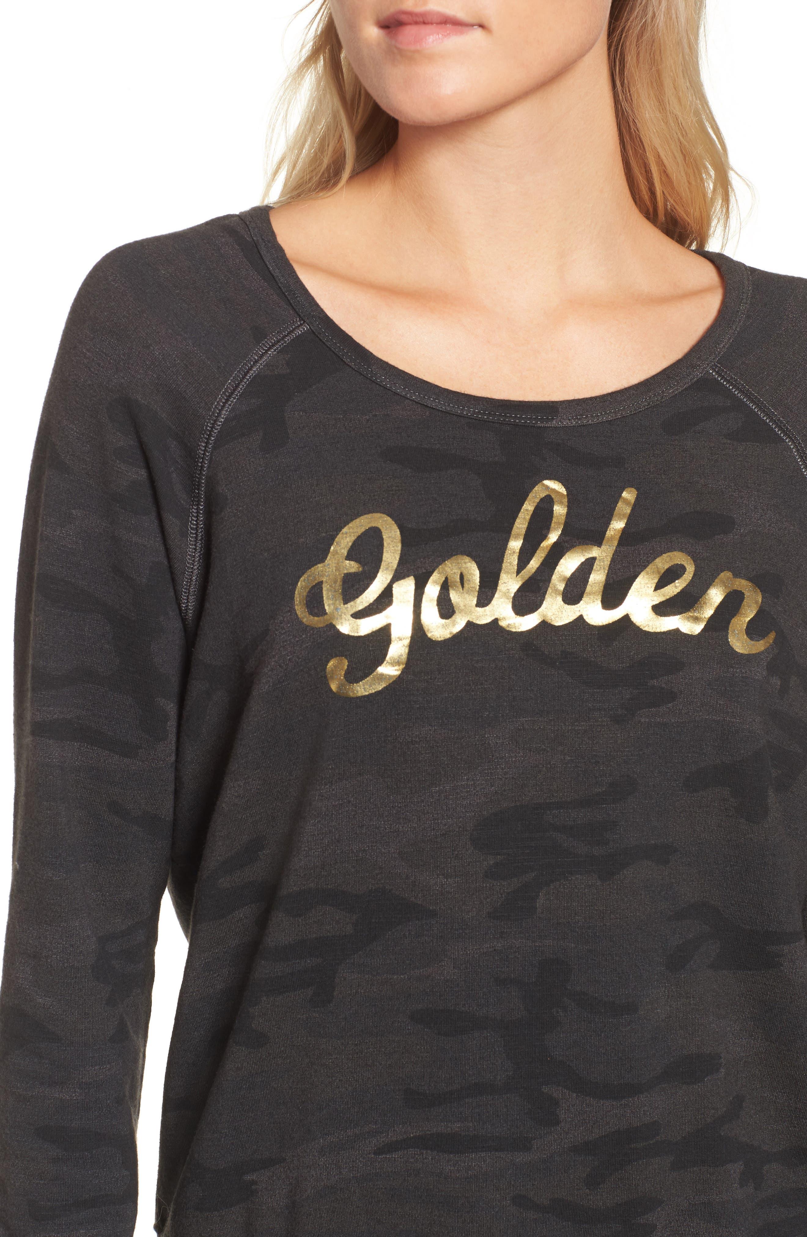 Active Golden Sweatshirt,                             Alternate thumbnail 4, color,                             Charcoal