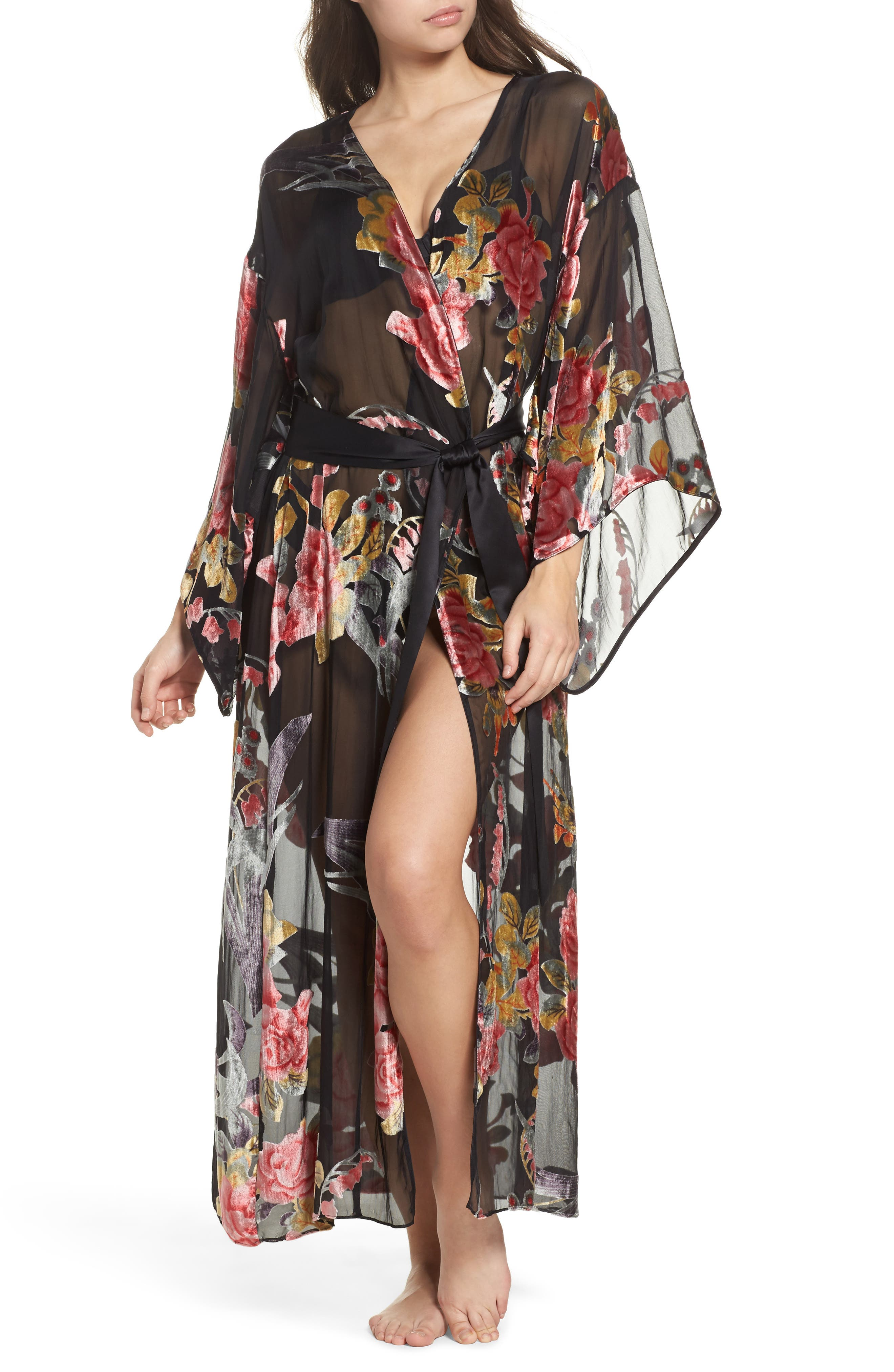 Alternate Image 1 Selected - Natori Burnout Velvet Robe