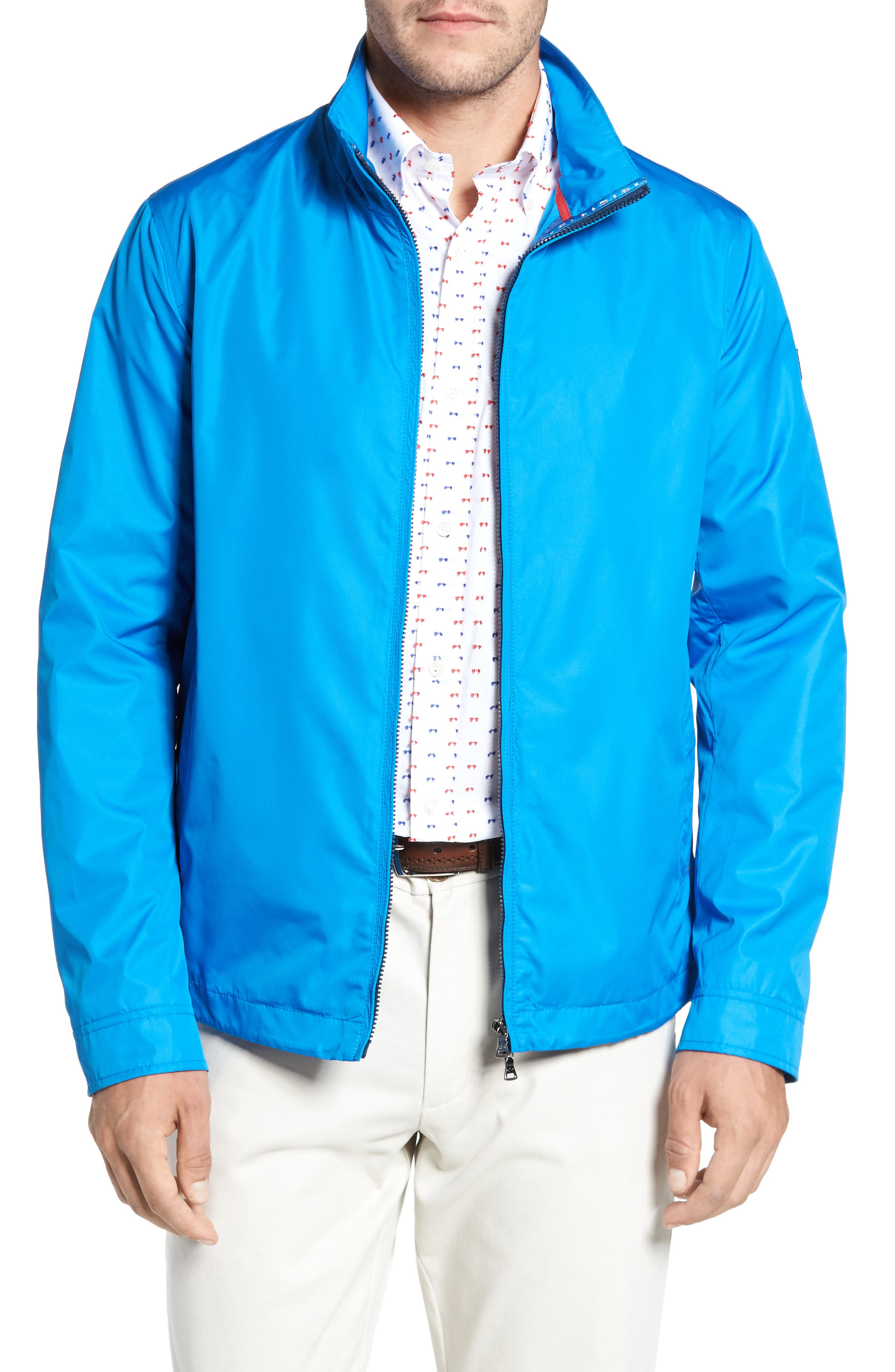 Paul&Shark Water Repellent Jacket,                         Main,                         color, Cobalt