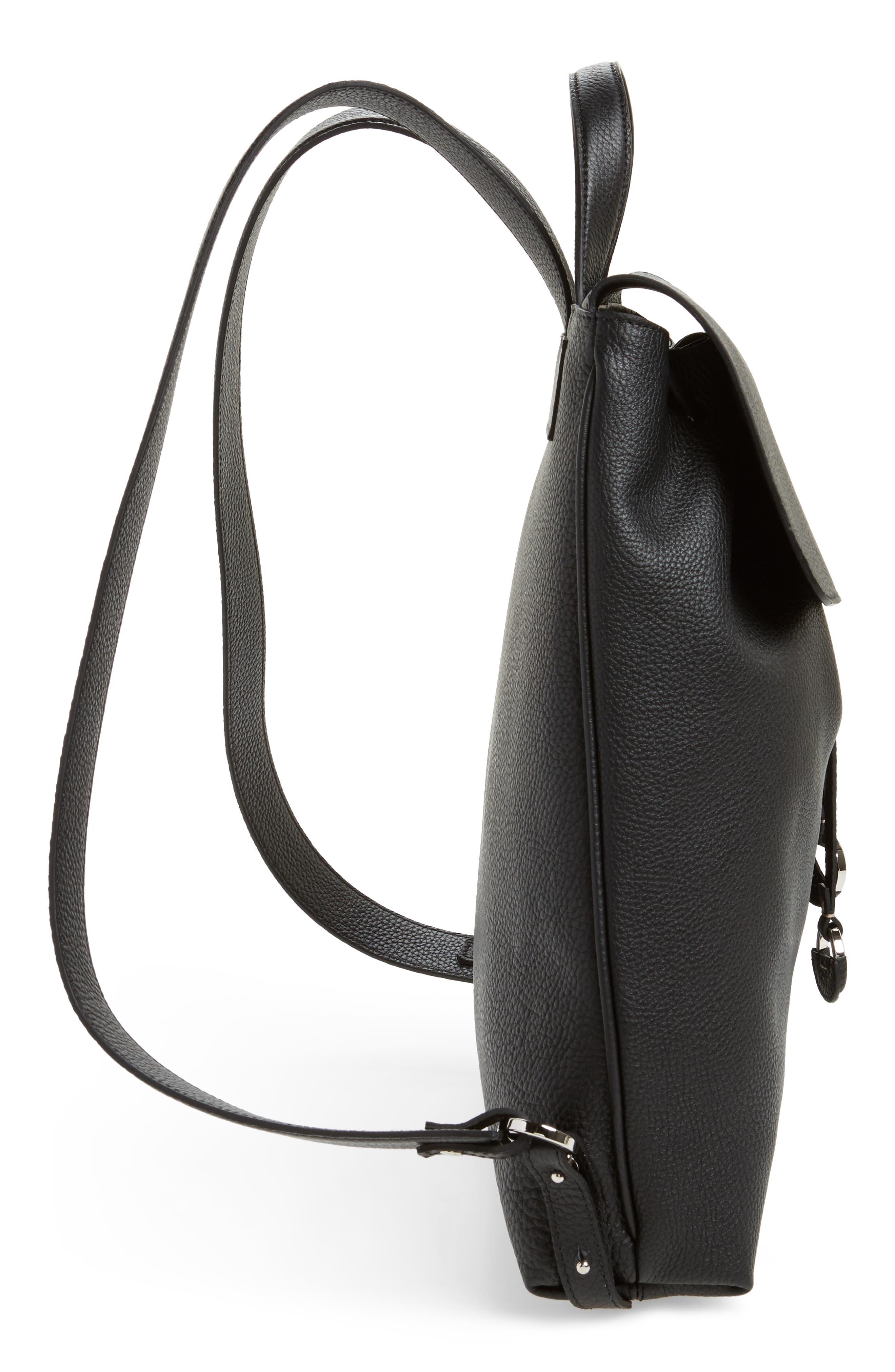 Carmen Cachemire Leather Backpack,                             Alternate thumbnail 5, color,                             Black
