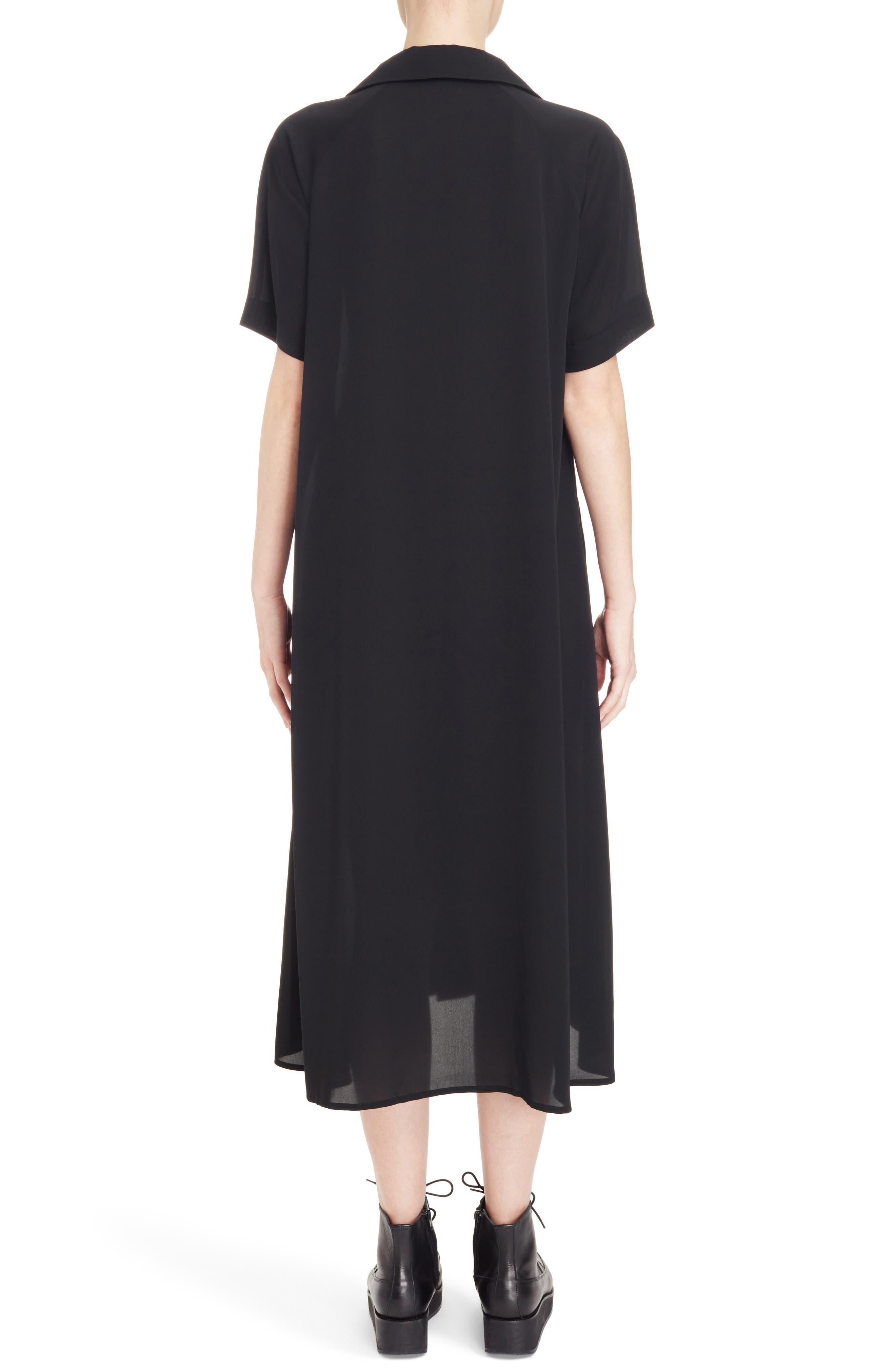 Oversize Shirtdress,                             Alternate thumbnail 2, color,                             Black