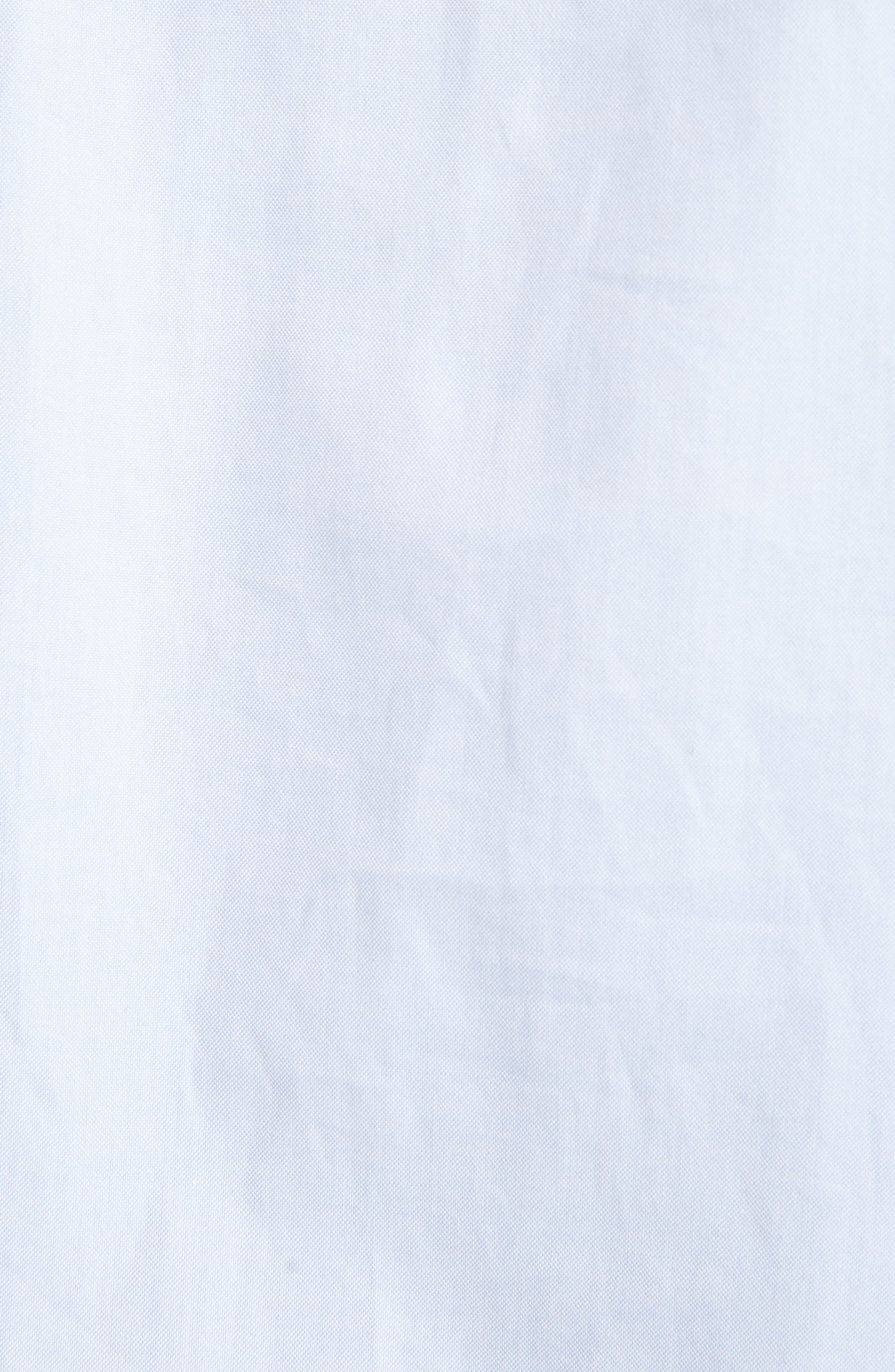 Victoria Victoria Beckham Gathered Sleeve Shirtdress,                             Alternate thumbnail 5, color,                             Oxford Blue