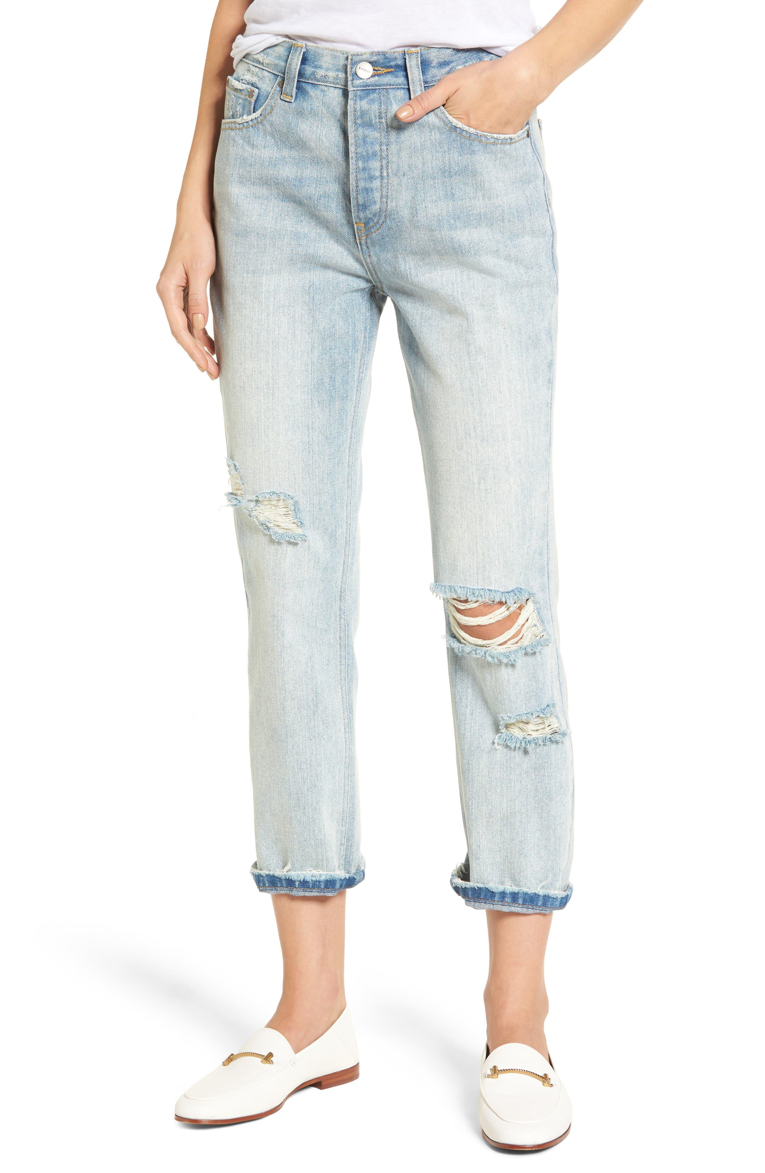 Main Image - EVIDNT Ghent Boyfriend Jeans (Palms)