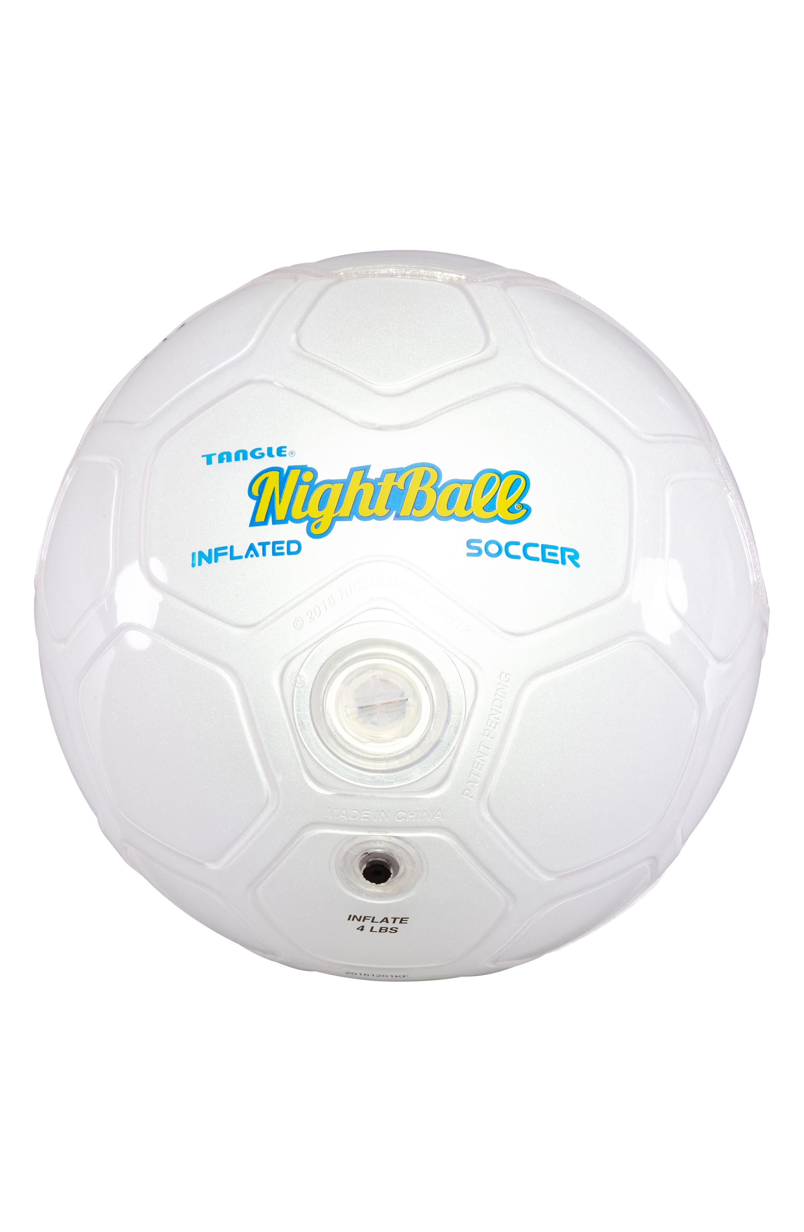 NightBall Soccer Ball,                         Main,                         color, White