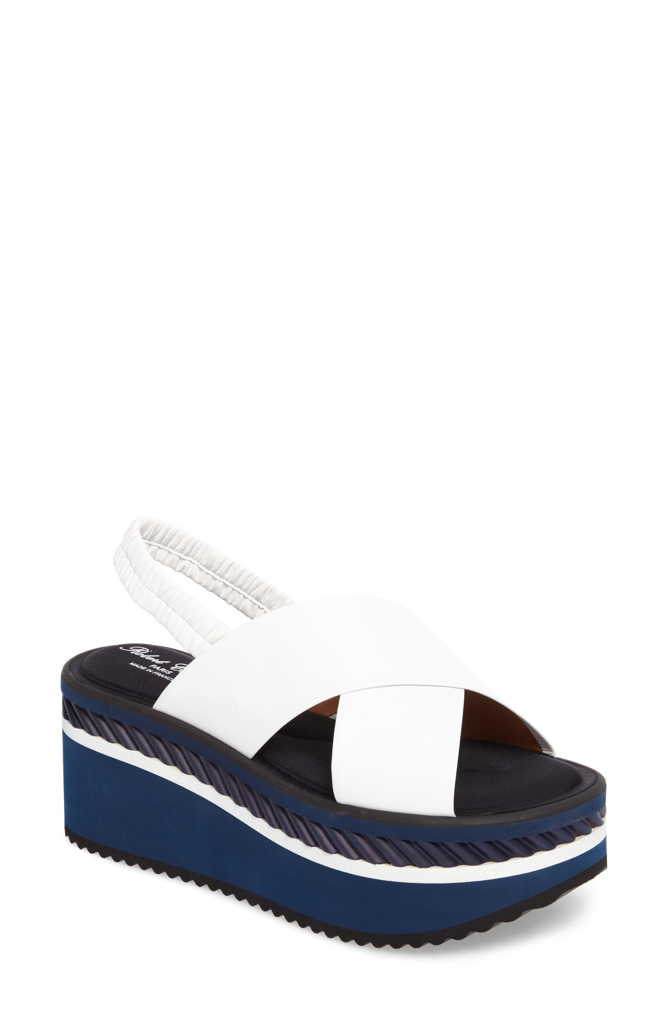 Robert Clergerie Omin Platform Slingback Sandal (Women)