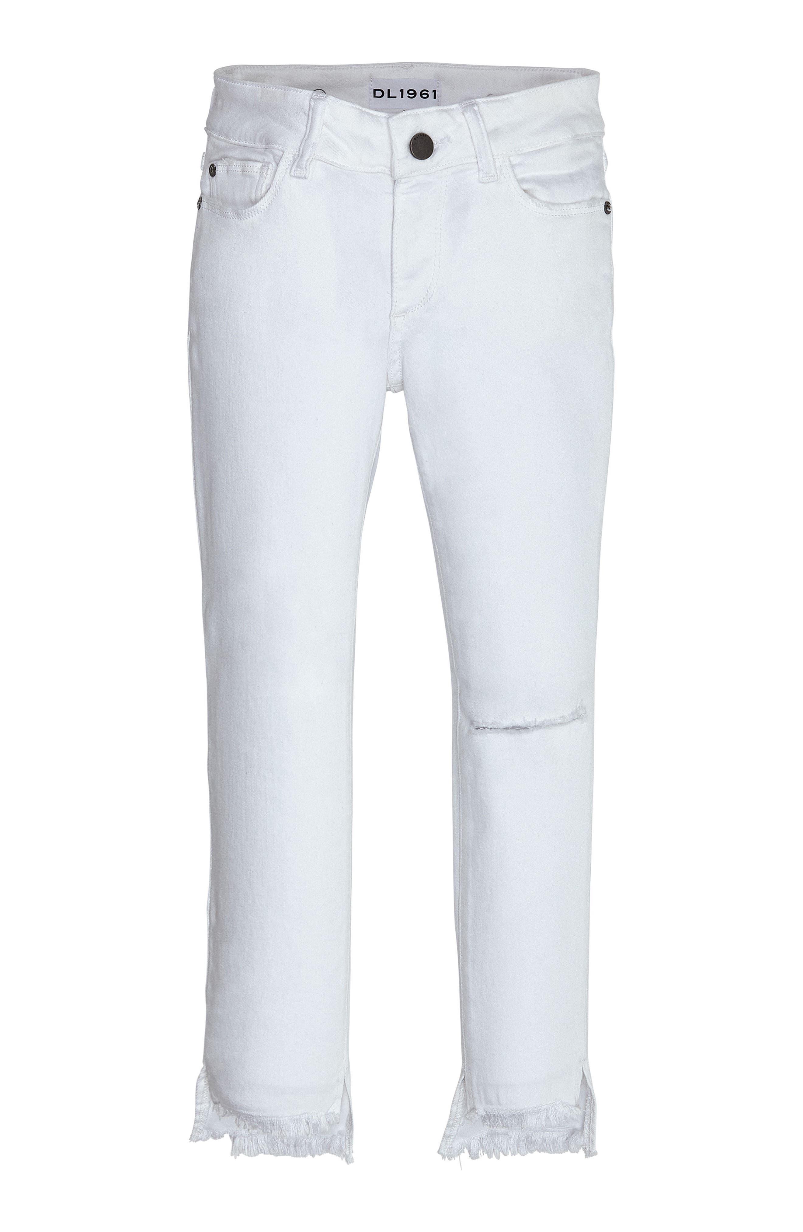Main Image - DL1961 Distressed Skinny Jeans (Big Girls)