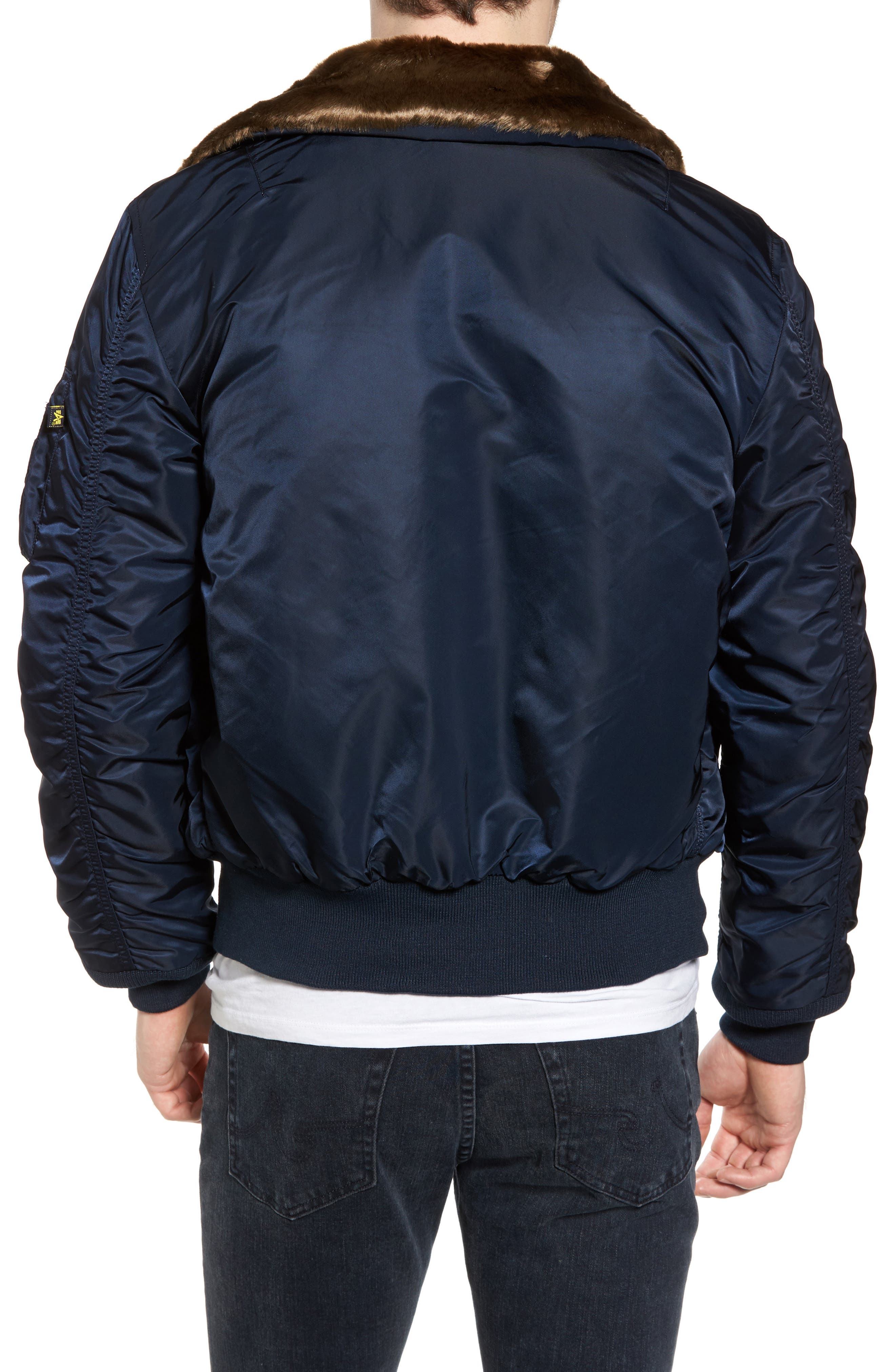 Alternate Image 2  - Alpha Industries B-15 Removable Faux Fur Collar Flight Jacket