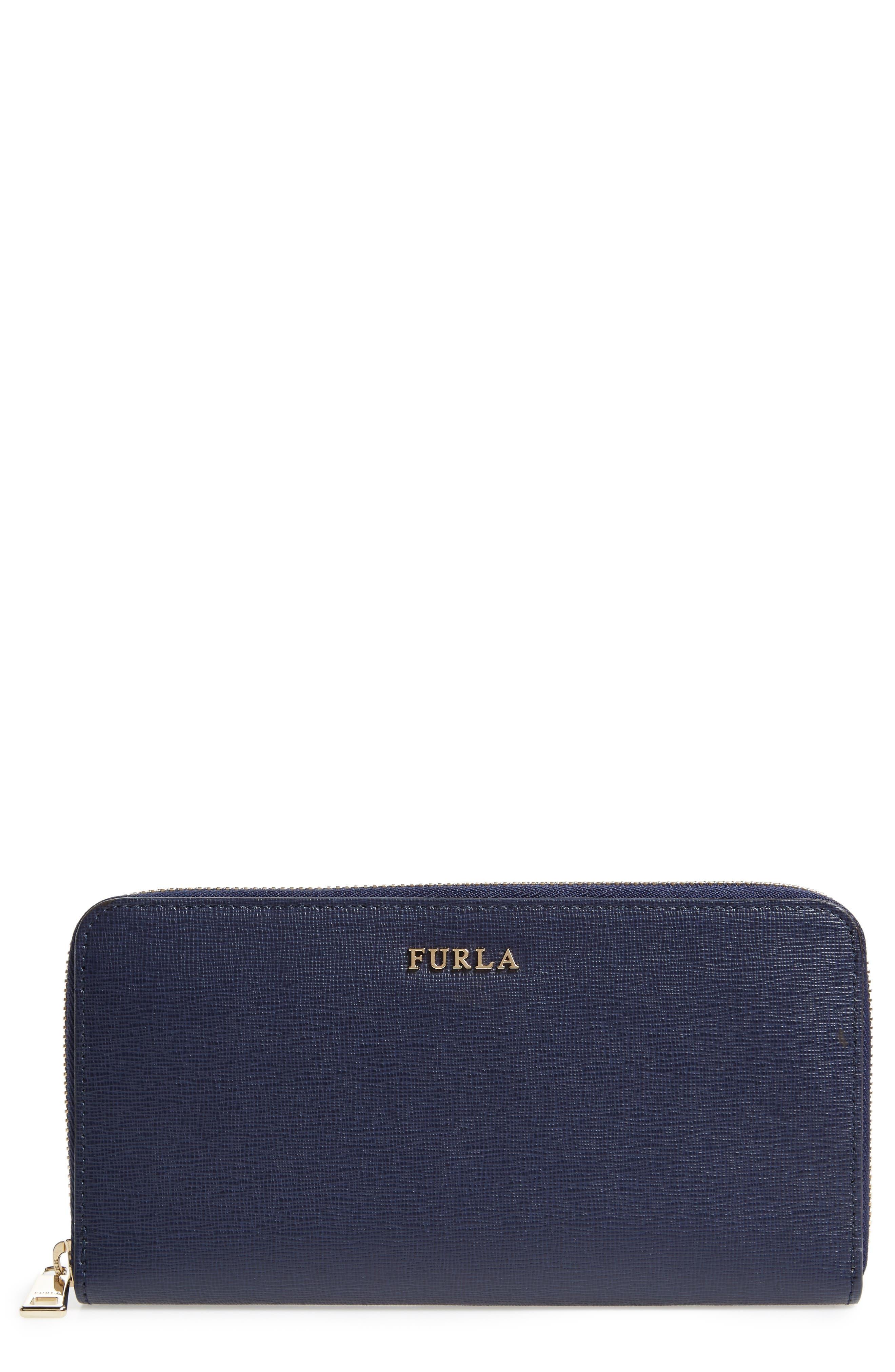 Furla XL Babylon Saffiano Leather Zip Around Wallet