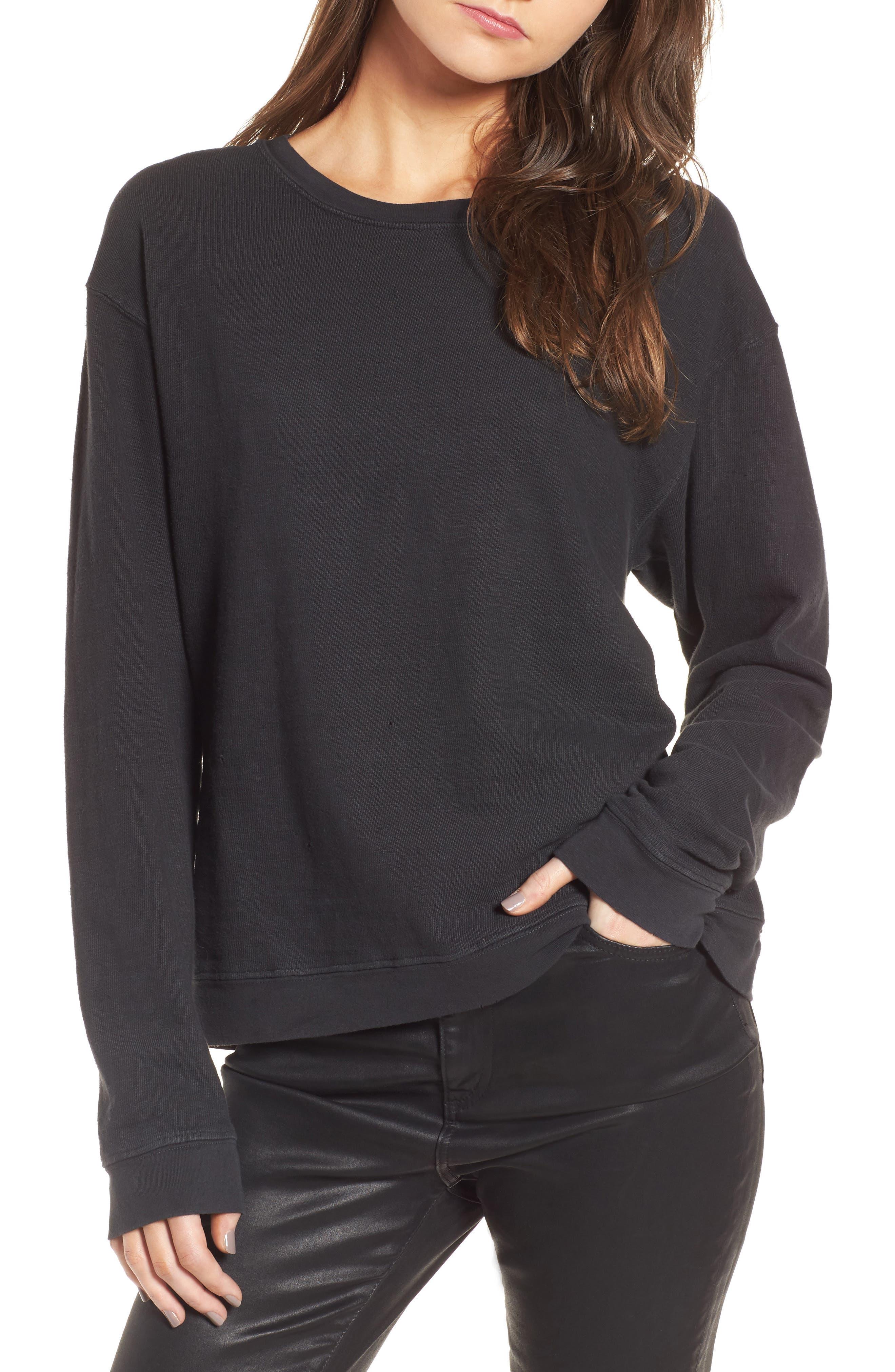 James Perse Distressed Sweatshirt