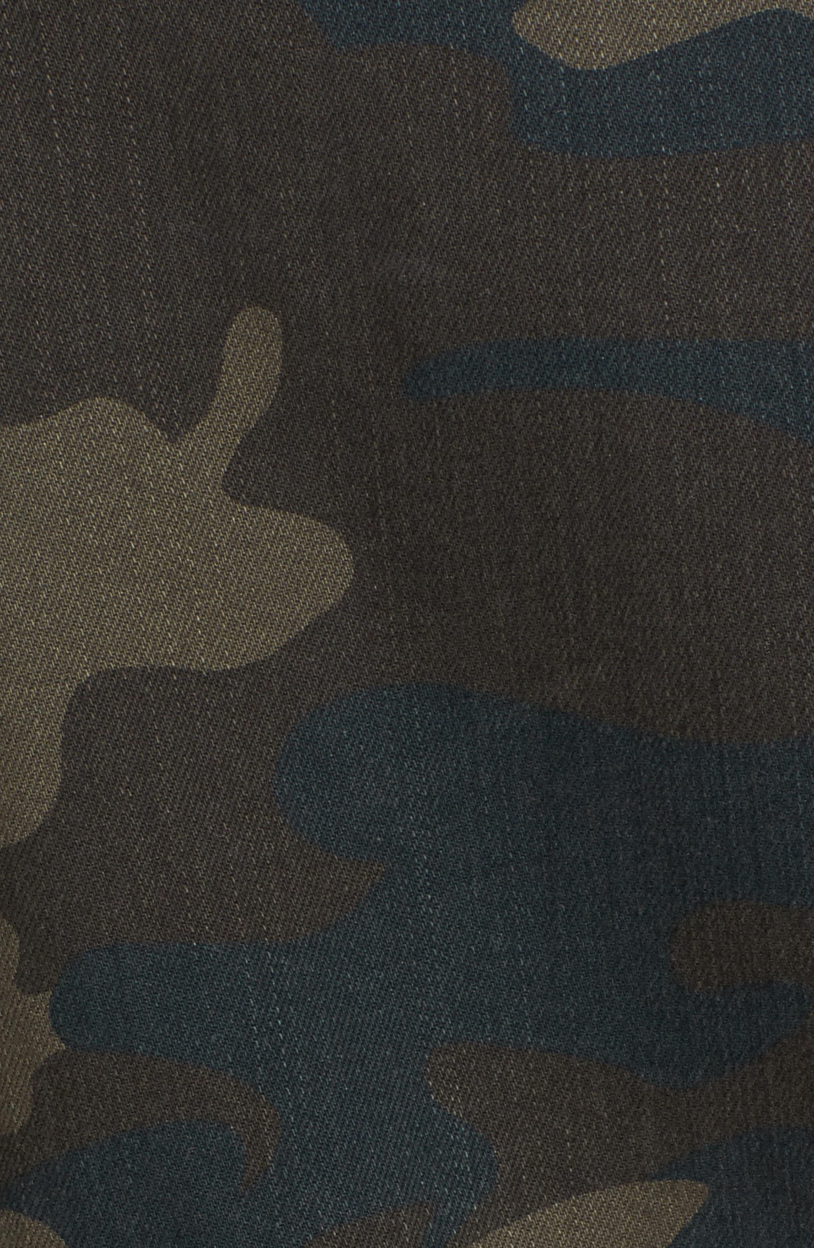 Studded Leopard Print Moto Jacket,                             Alternate thumbnail 5, color,                             Camo