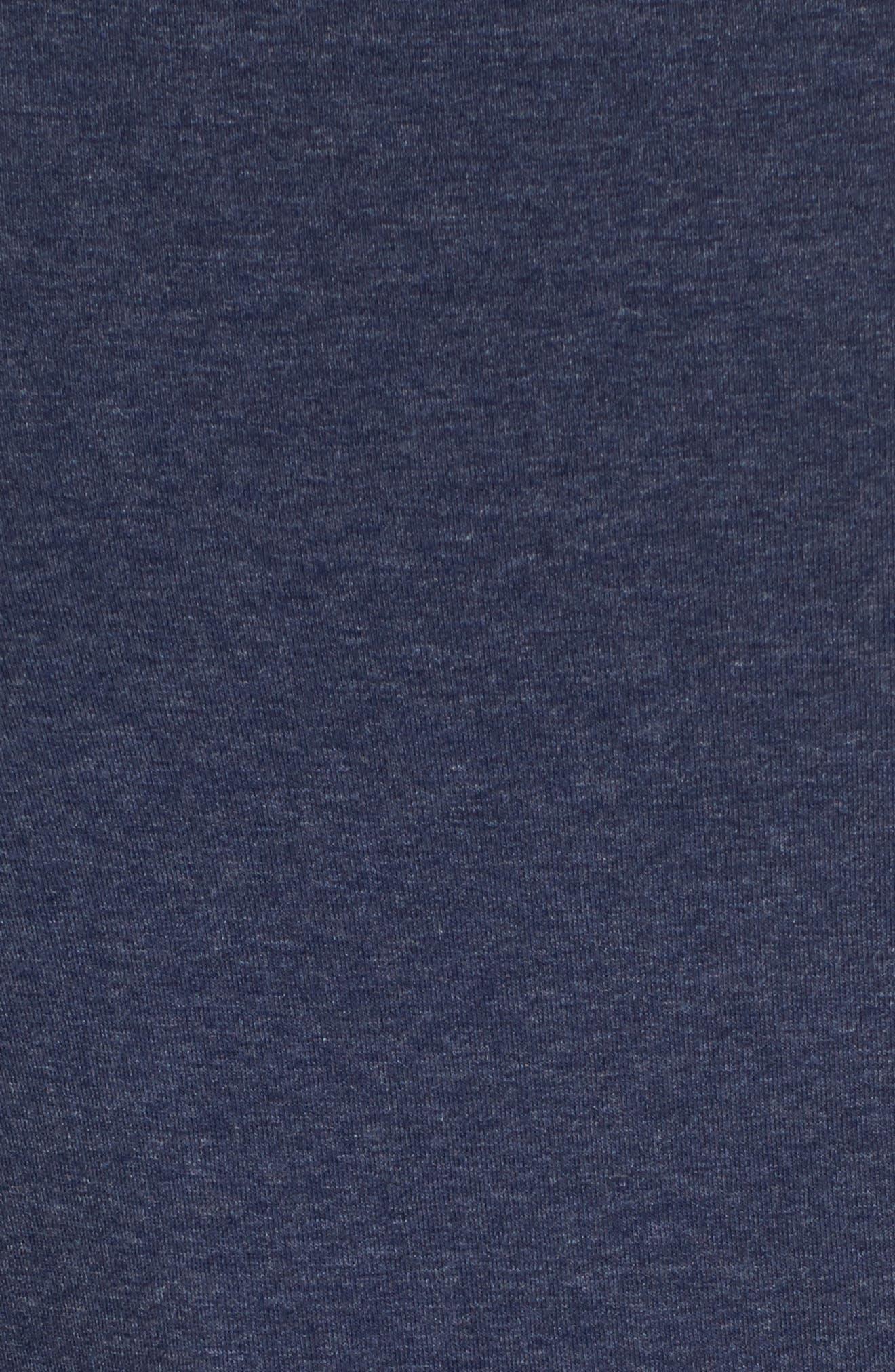 Long Sleeve Bateau Neck Tee,                             Alternate thumbnail 5, color,                             Navy Patriot Heather