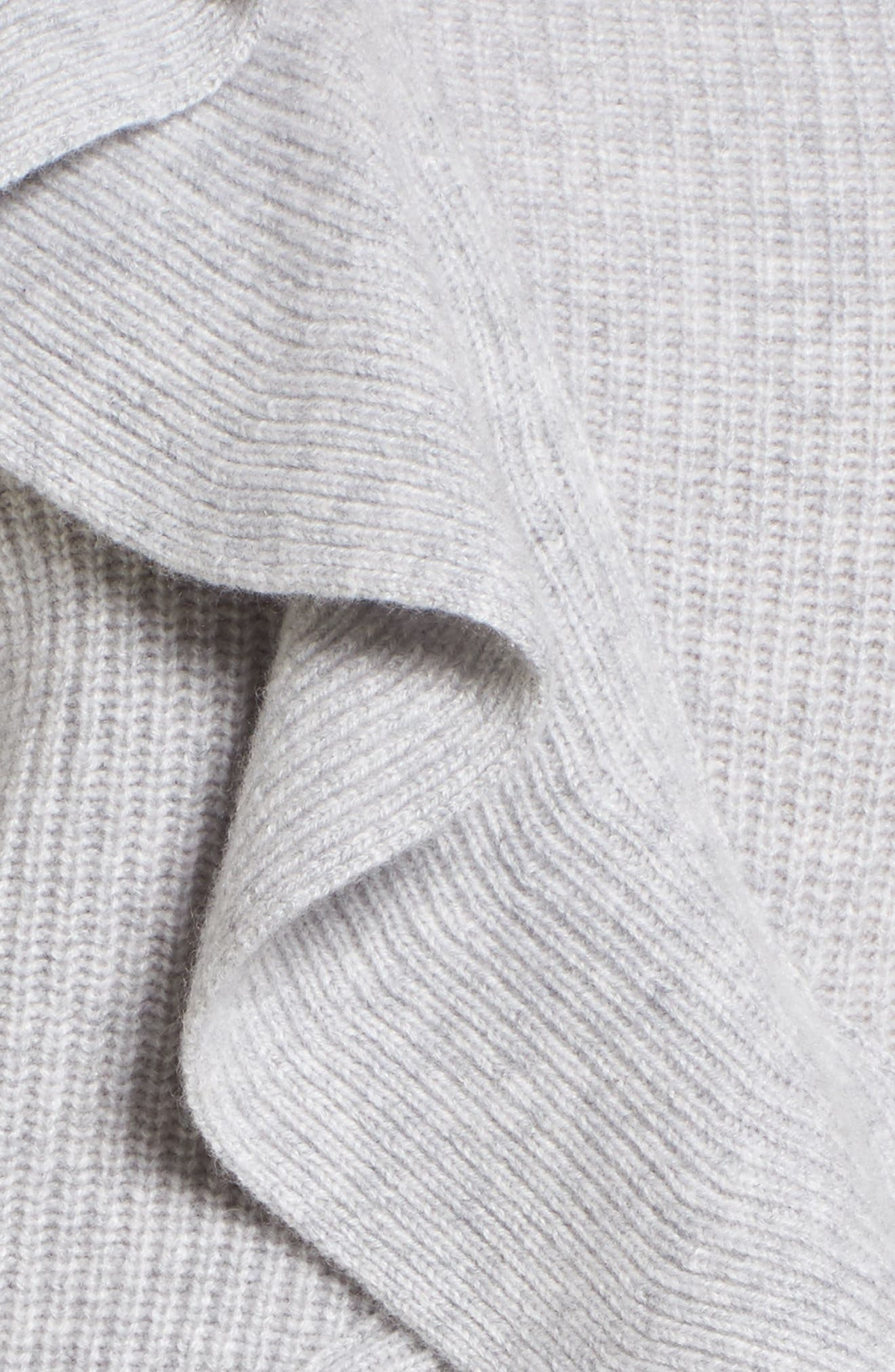 Alternate Image 5  - Nordstrom Signature Ruffled Cashmere Sweater