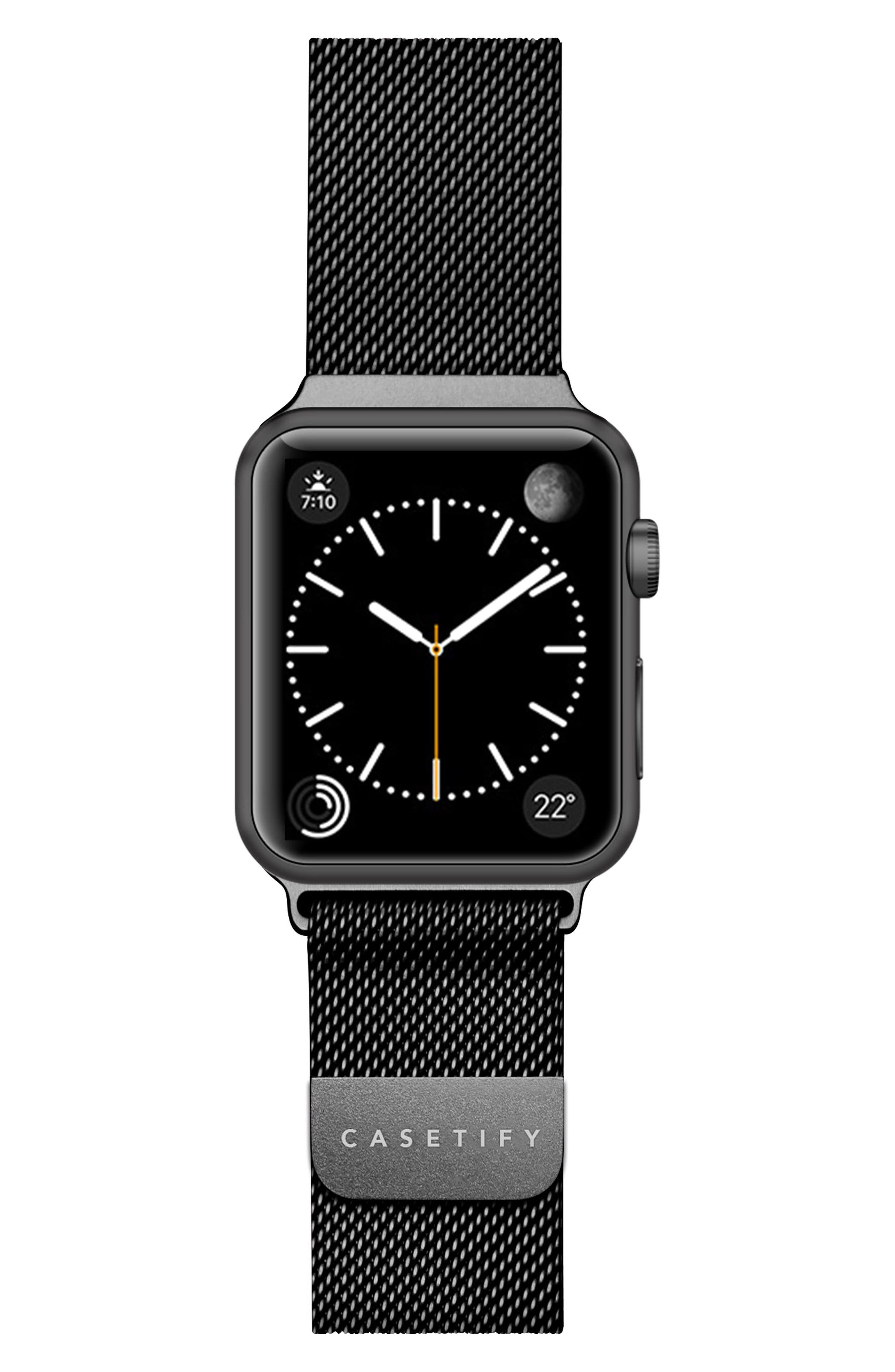 Mesh Apple Watch Strap, 38mm,                         Main,                         color, Gunmetal