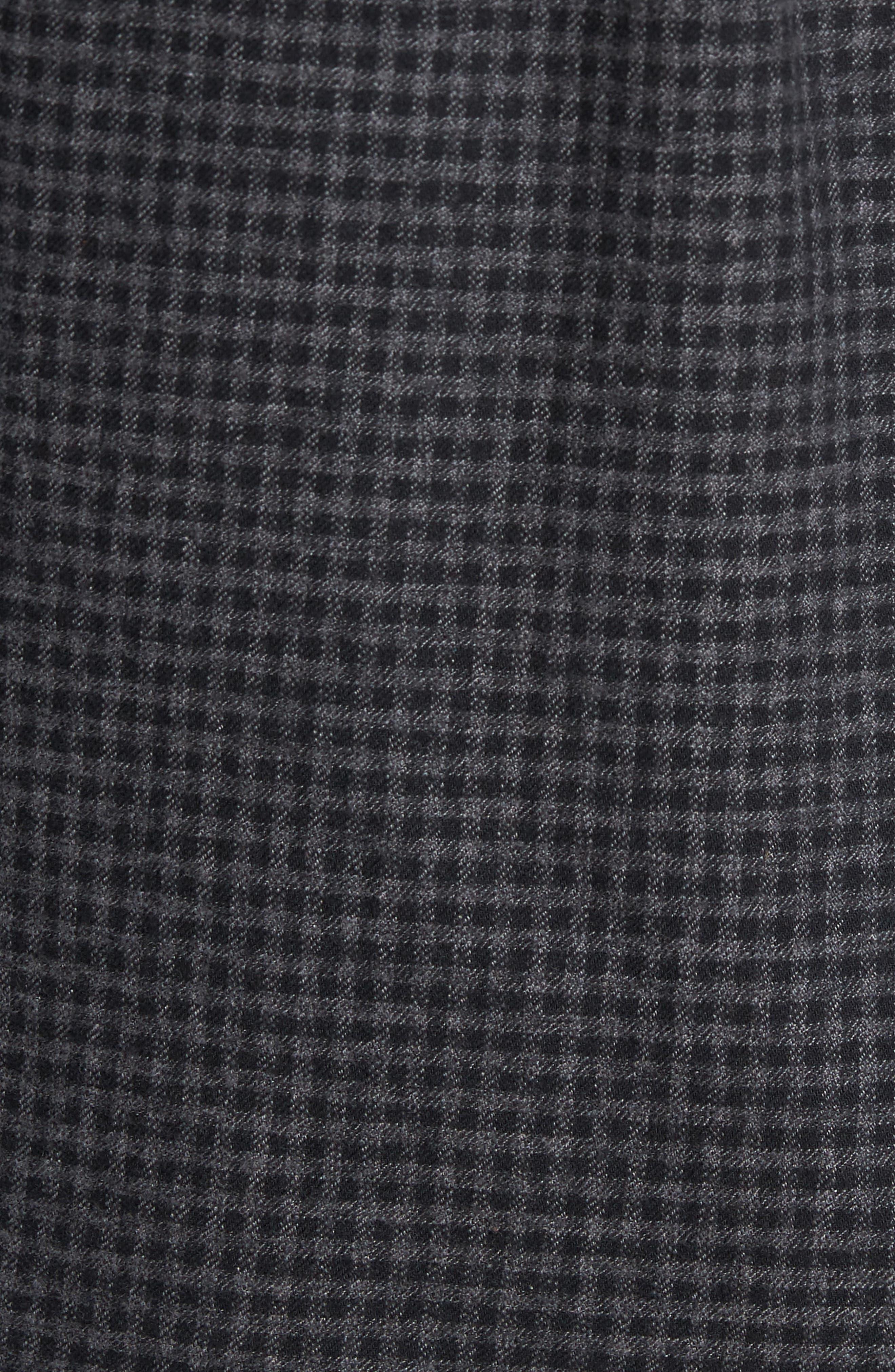 Outsider Microcheck Sport Shirt,                             Alternate thumbnail 5, color,                             Black Multi