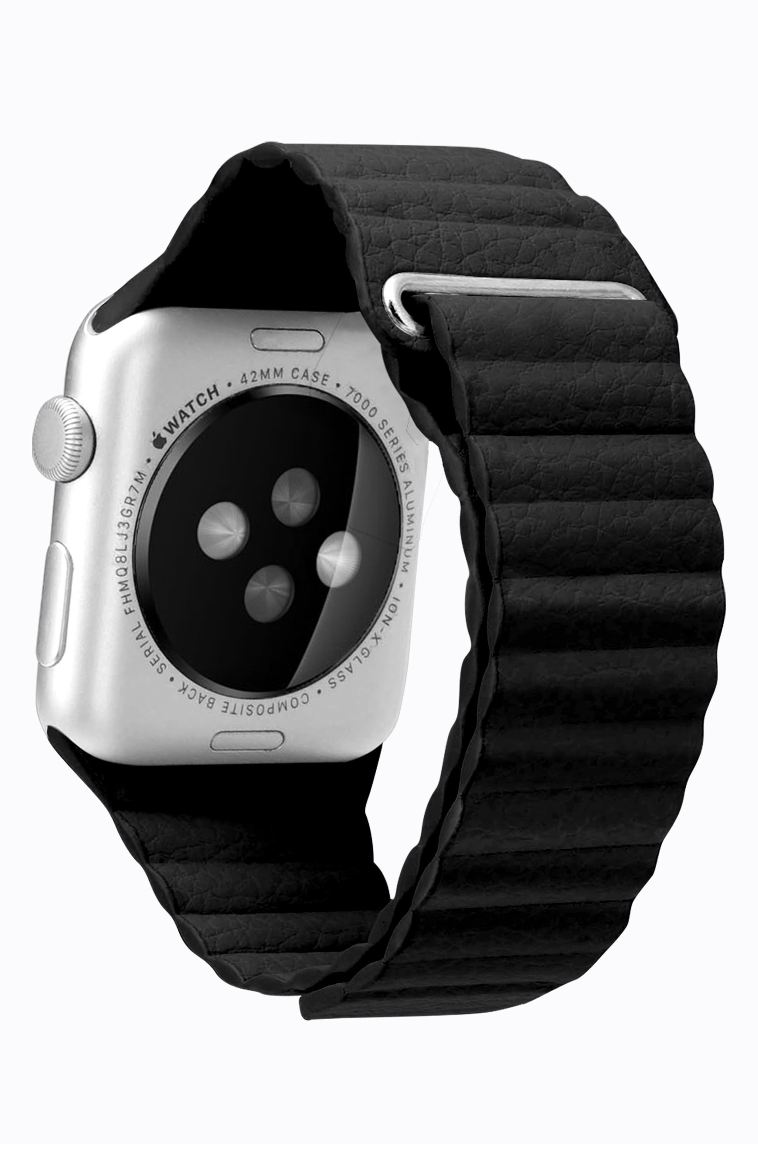 Magnetic Apple Watch Strap, 28mm,                             Alternate thumbnail 3, color,                             Black