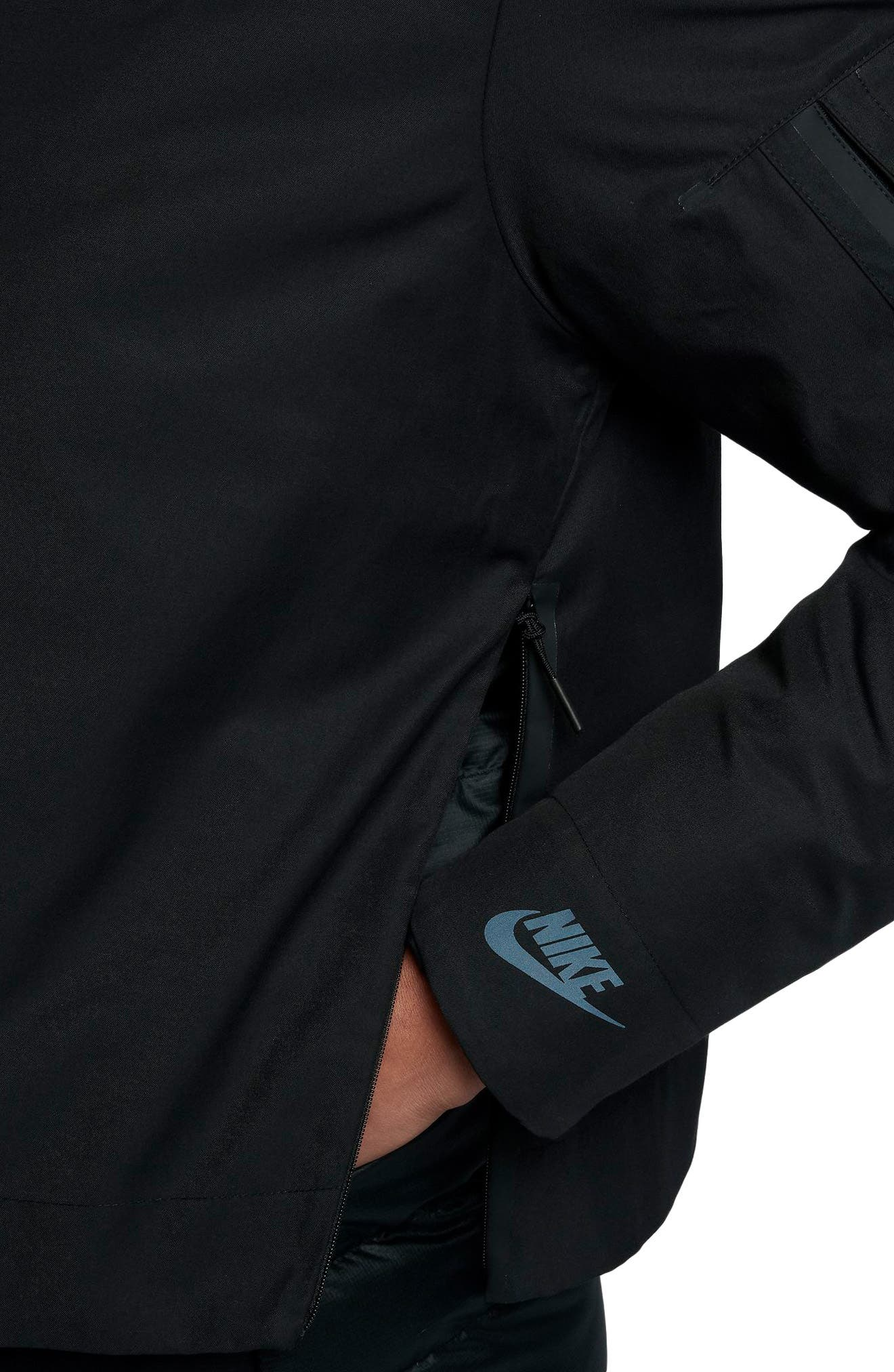 Sportswear AeroLoft 3-in-1 Down Jacket,                             Alternate thumbnail 8, color,                             Black/ Black/ Black