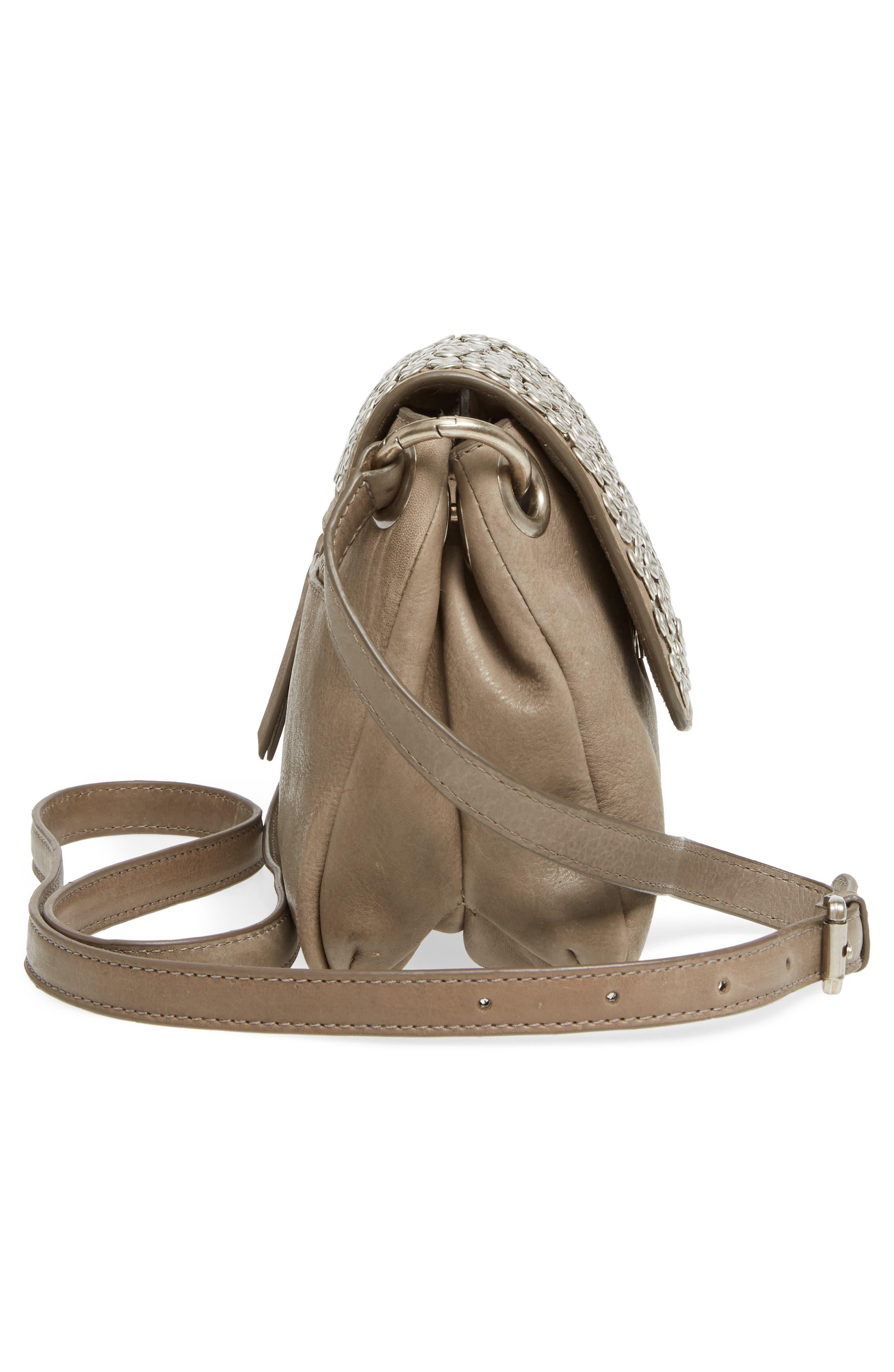 Céline Dion Cadence Crossbody Bag,                             Alternate thumbnail 5, color,                             Grey