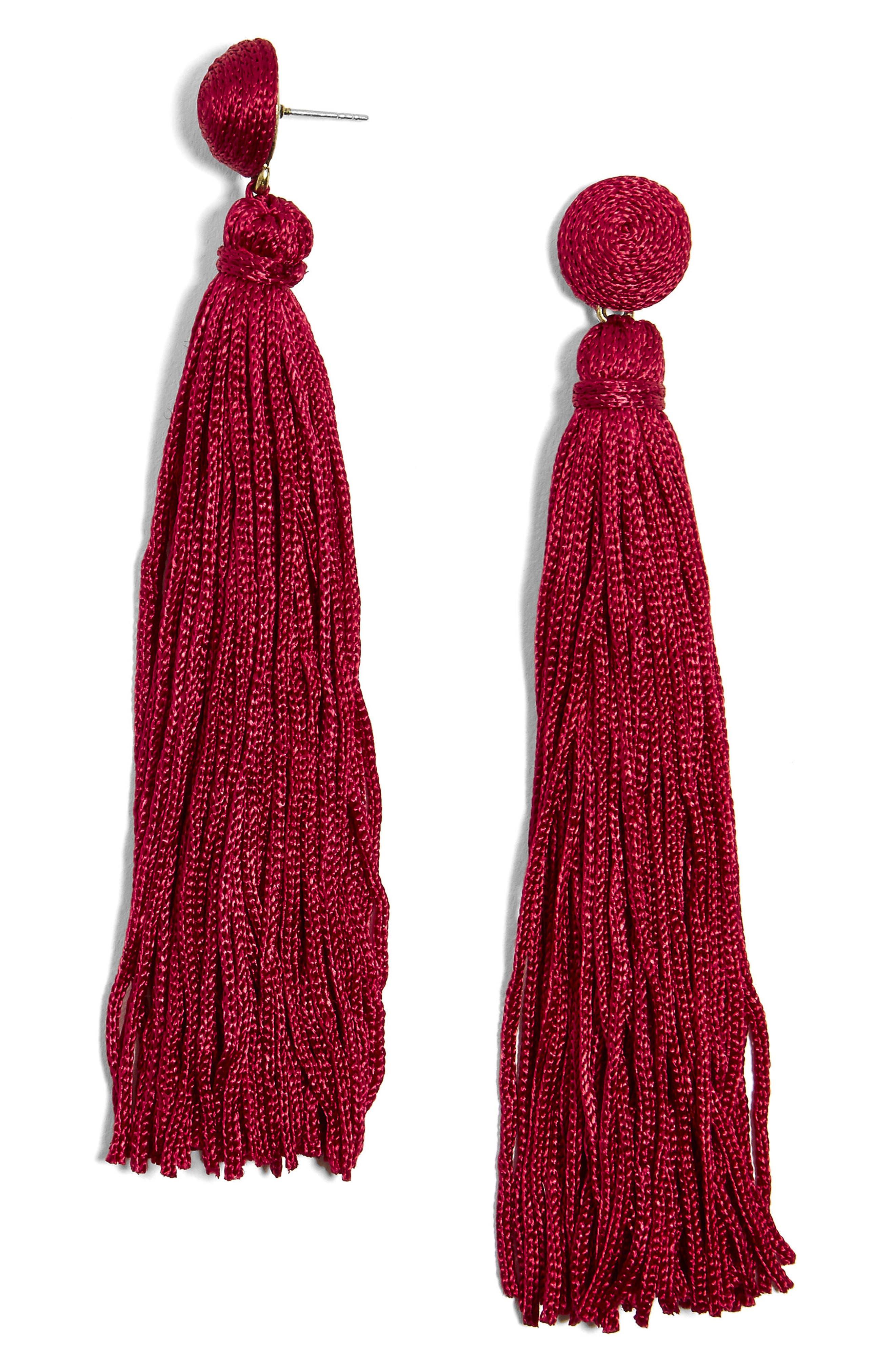 BaubleBar Valencia Shoulder Duster Tassel Earrings
